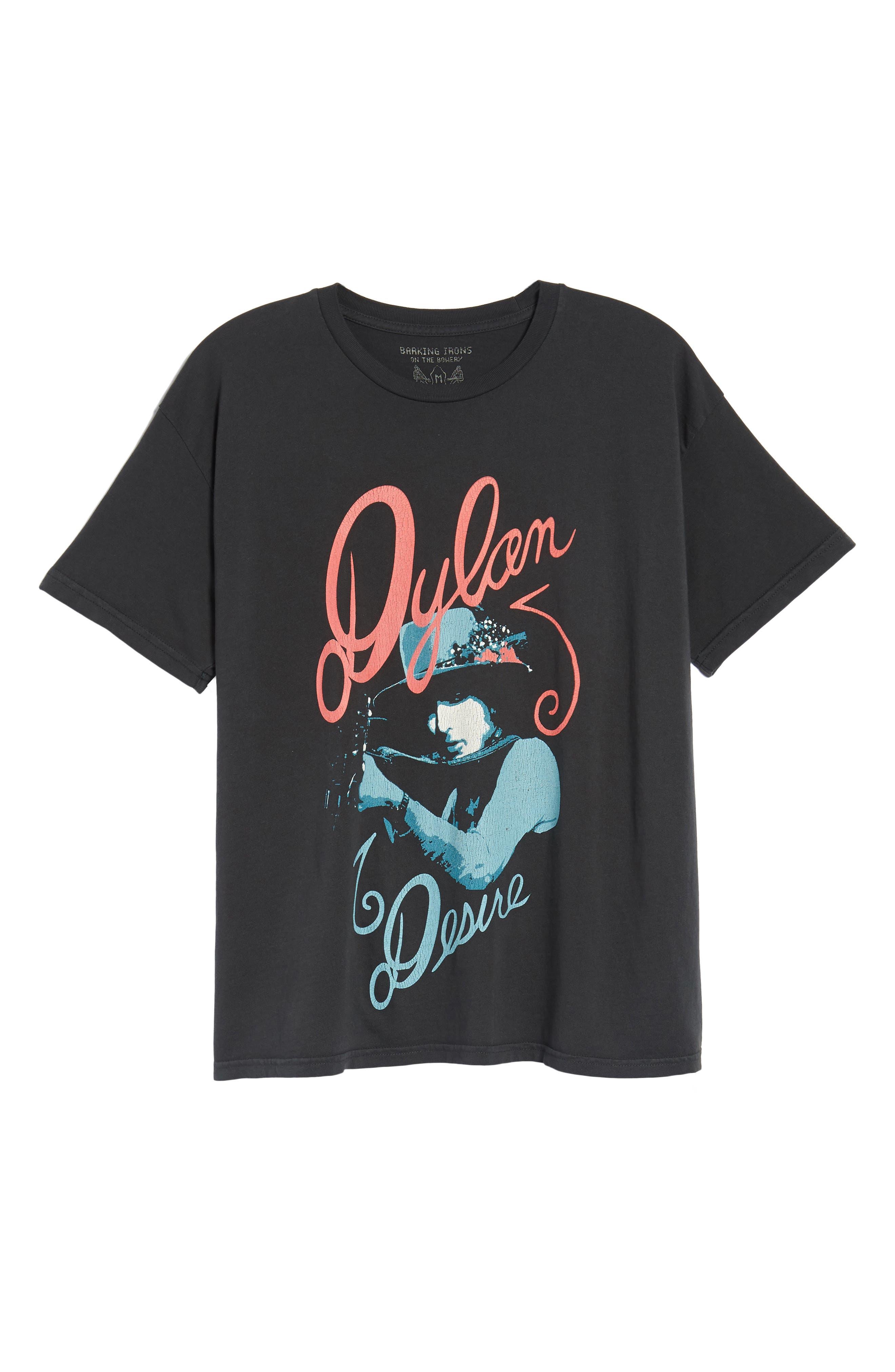 Dylan Desire T-Shirt,                             Alternate thumbnail 6, color,                             DUSTY BLACK