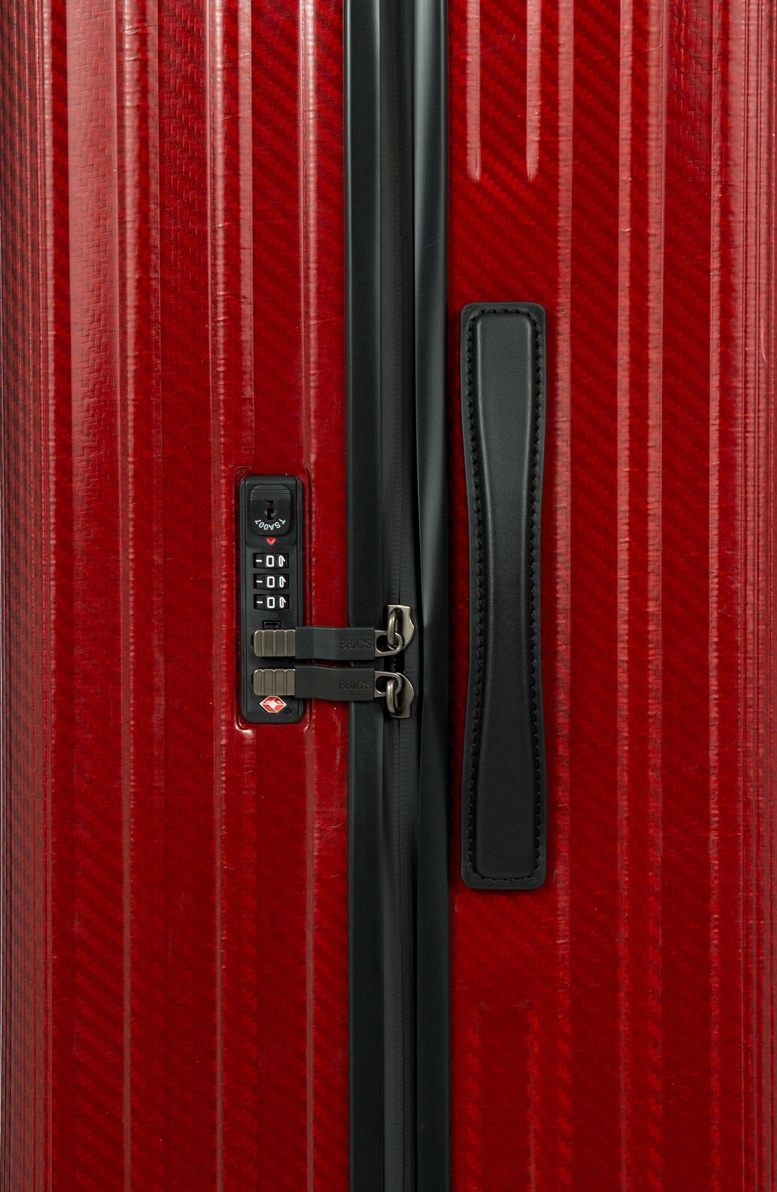 Venezia 30-Inch Hardshell Spinner Suitcase,                             Alternate thumbnail 6, color,                             RUBY