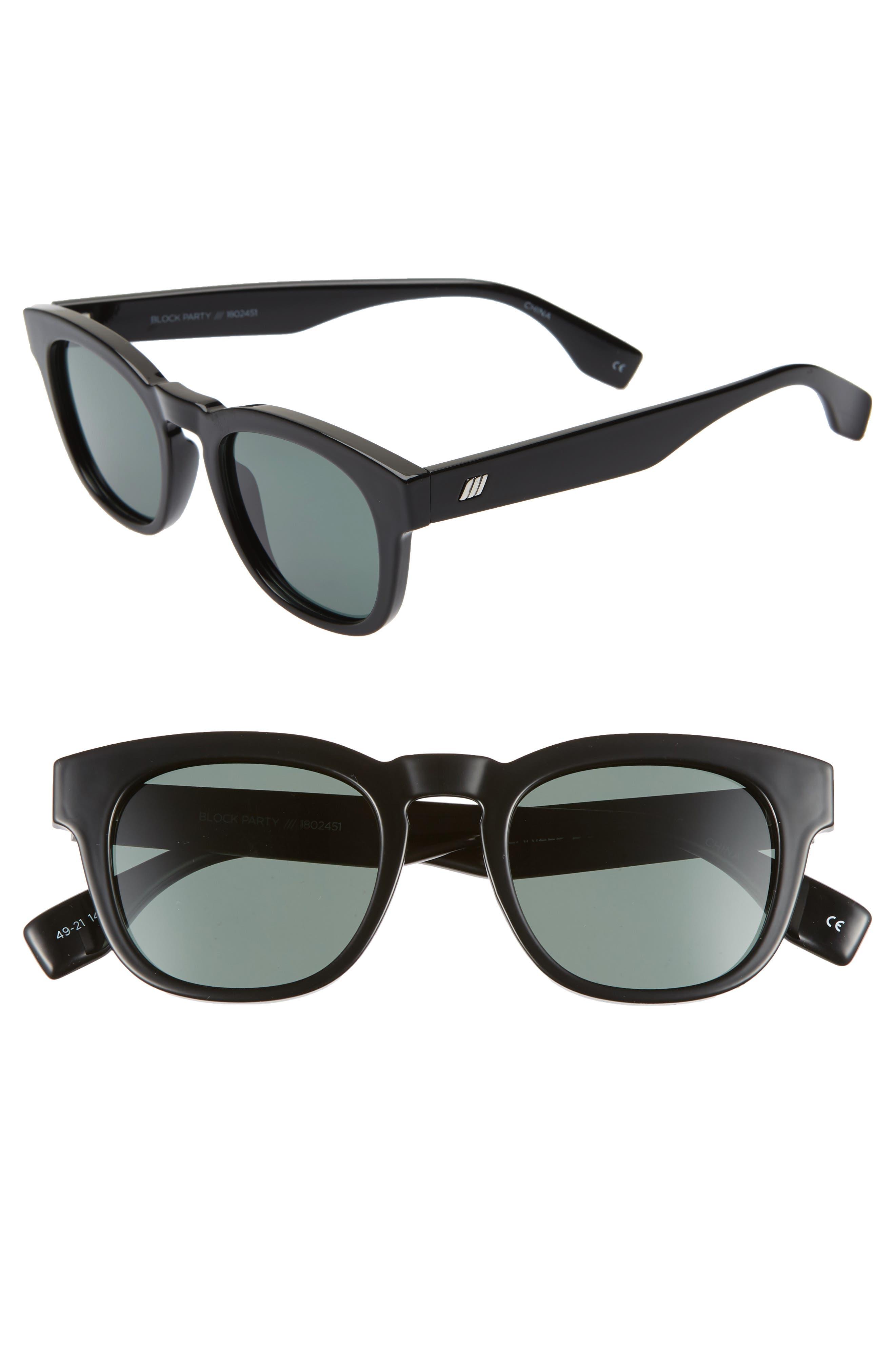Le Specs Block Party 4m Polarized Sunglasses - Black