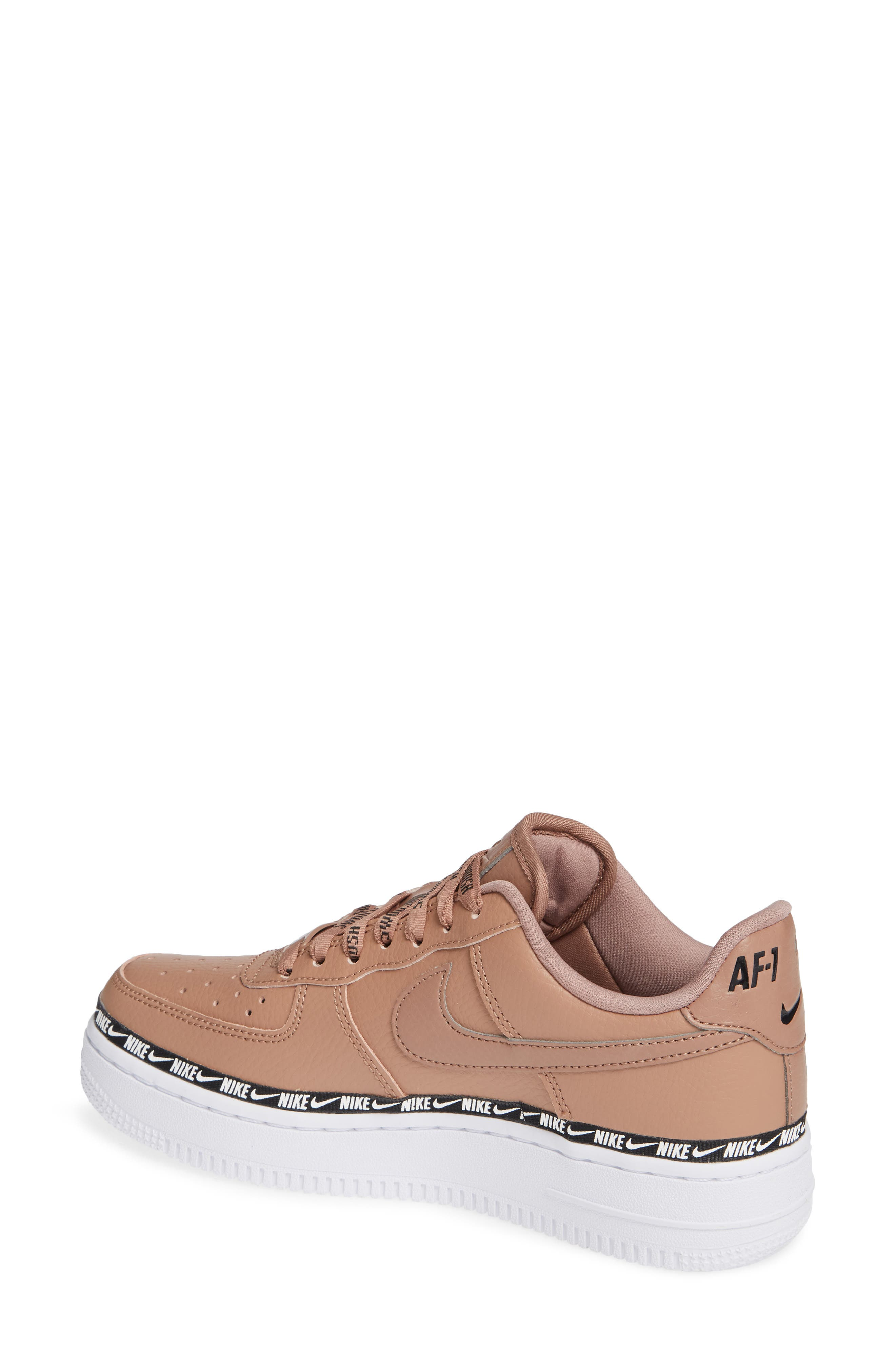 Air Force 1 '07 SE Premium Sneaker,                             Alternate thumbnail 2, color,                             DESERT DUST/ BLACK/ WHITE