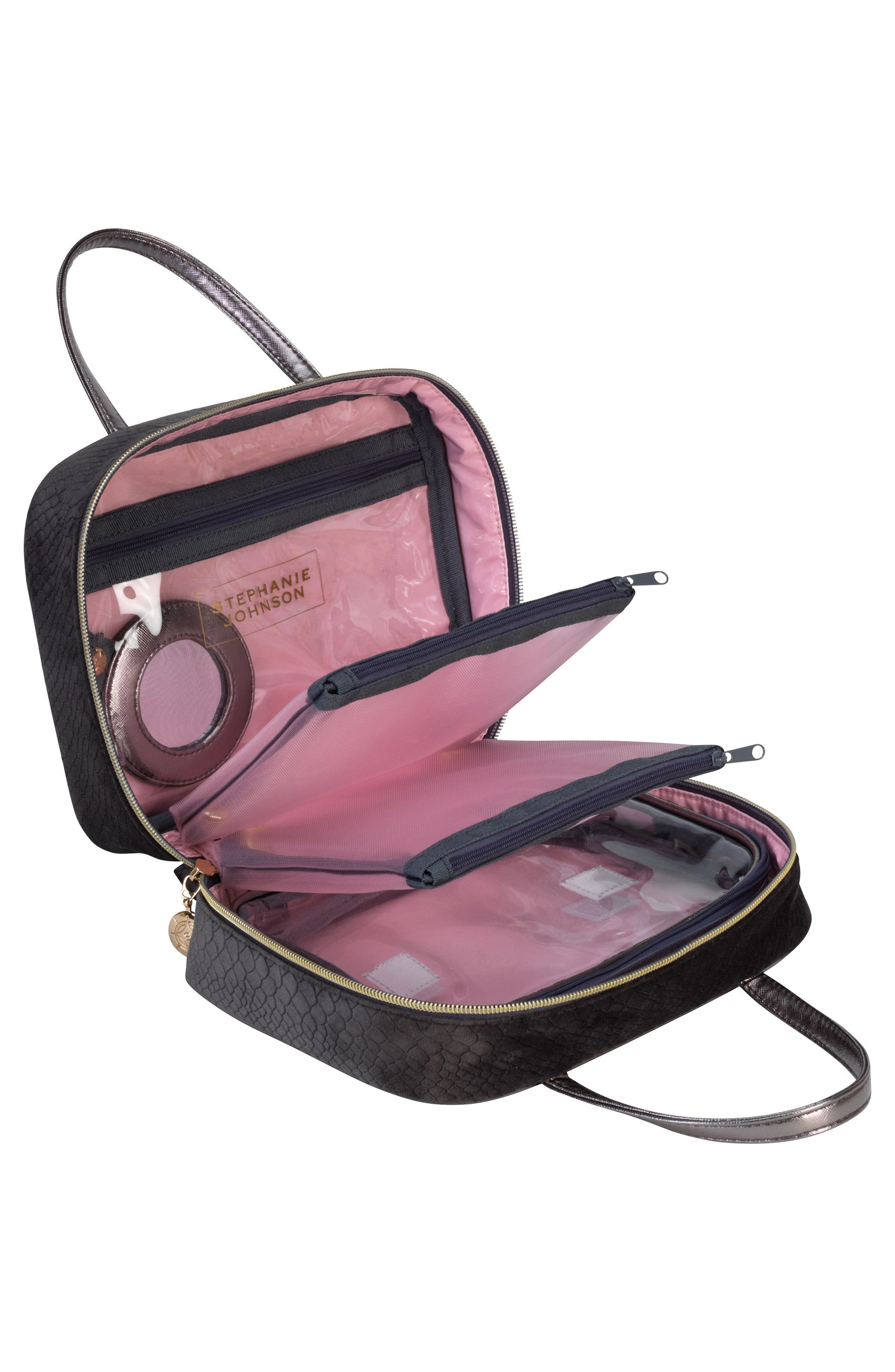 Marais Mink ML Traveler Cosmetics Case,                             Alternate thumbnail 4, color,