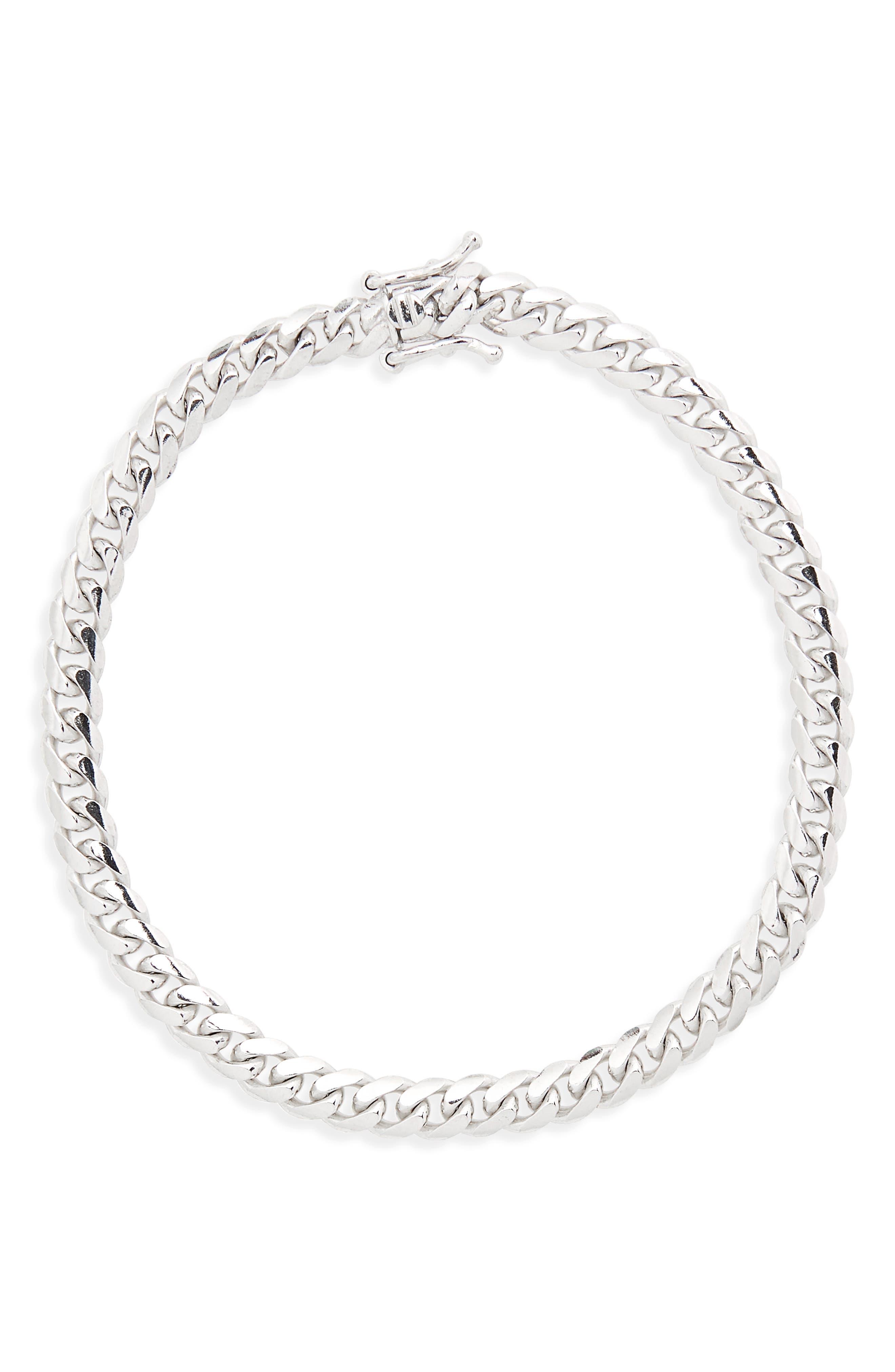 Cuban Chain Bracelet,                             Main thumbnail 1, color,                             040