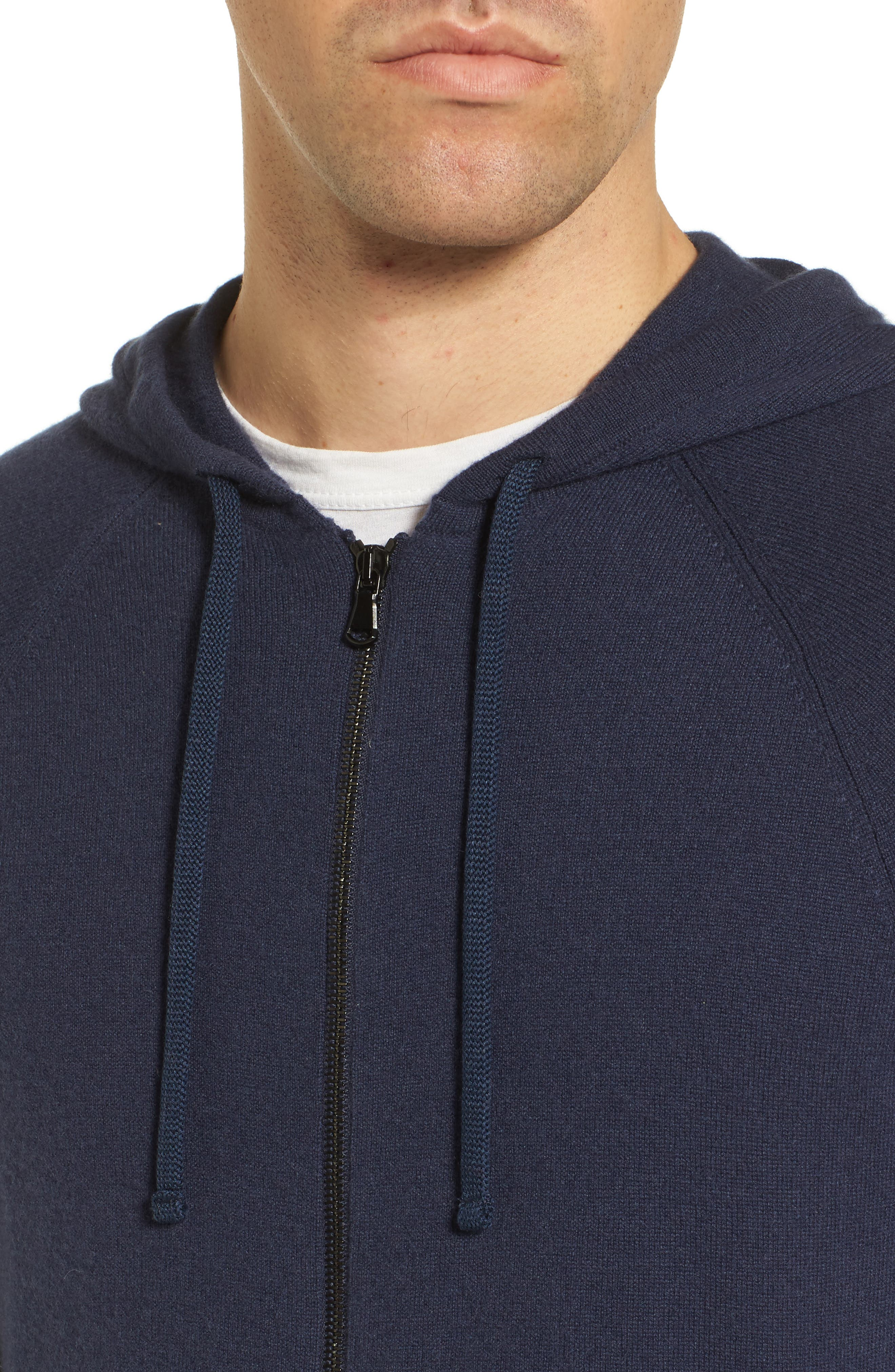 Classic Fit Cashmere Hooded Track Jacket,                             Alternate thumbnail 8, color,