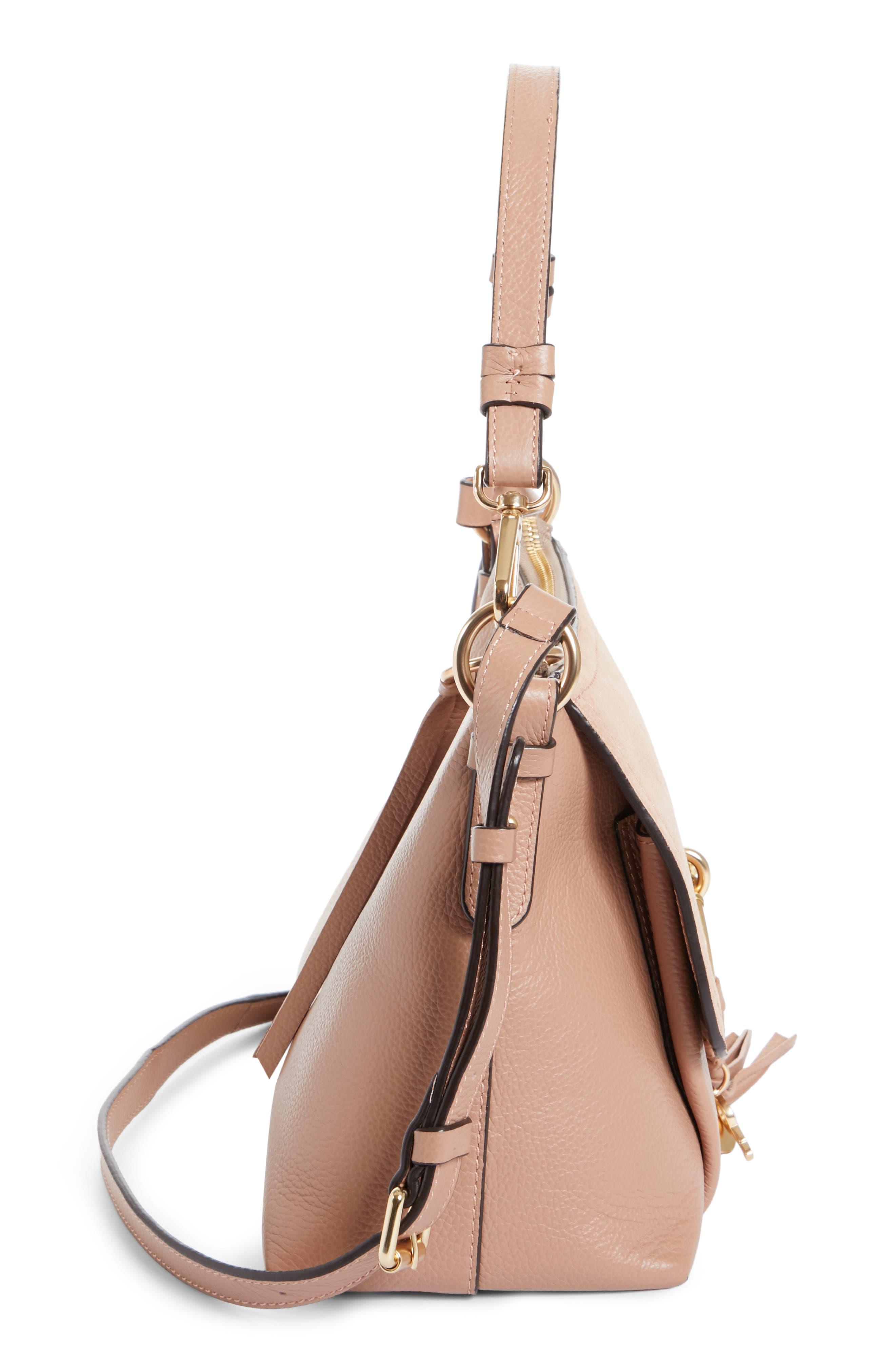 Small Joan Leather Shoulder Bag,                             Alternate thumbnail 5, color,                             650