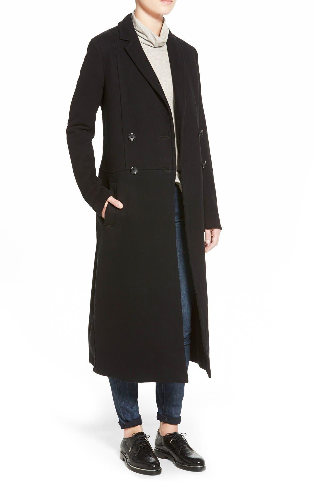 JAMES PERSE Fleece Overcoat, Main, color, 001