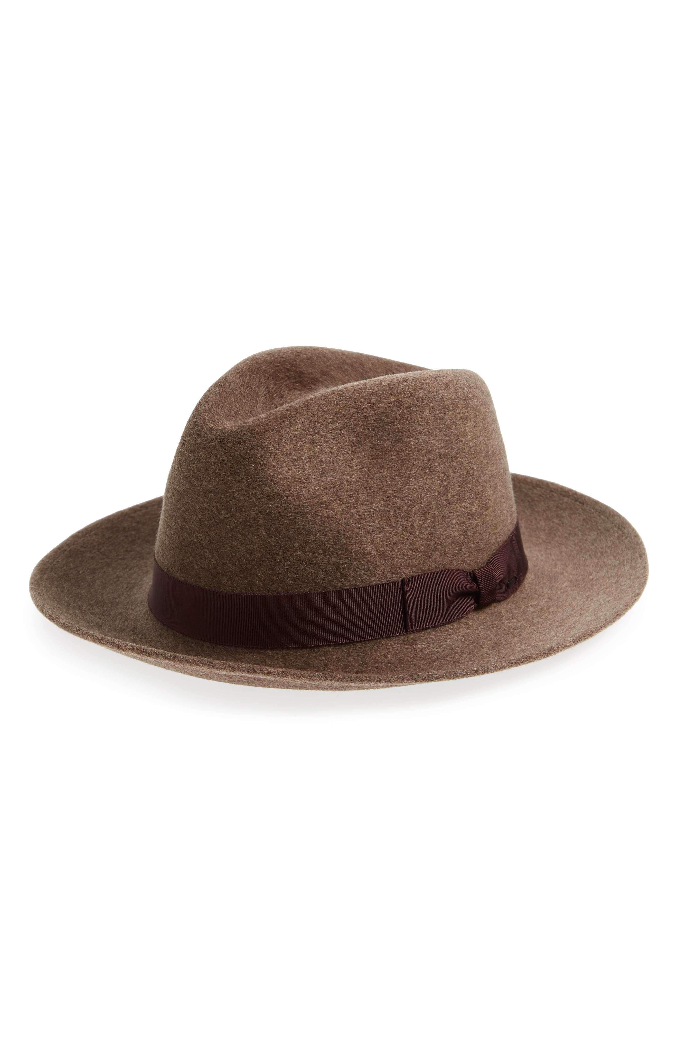 Bailey Criss Wool Fedora - Brown