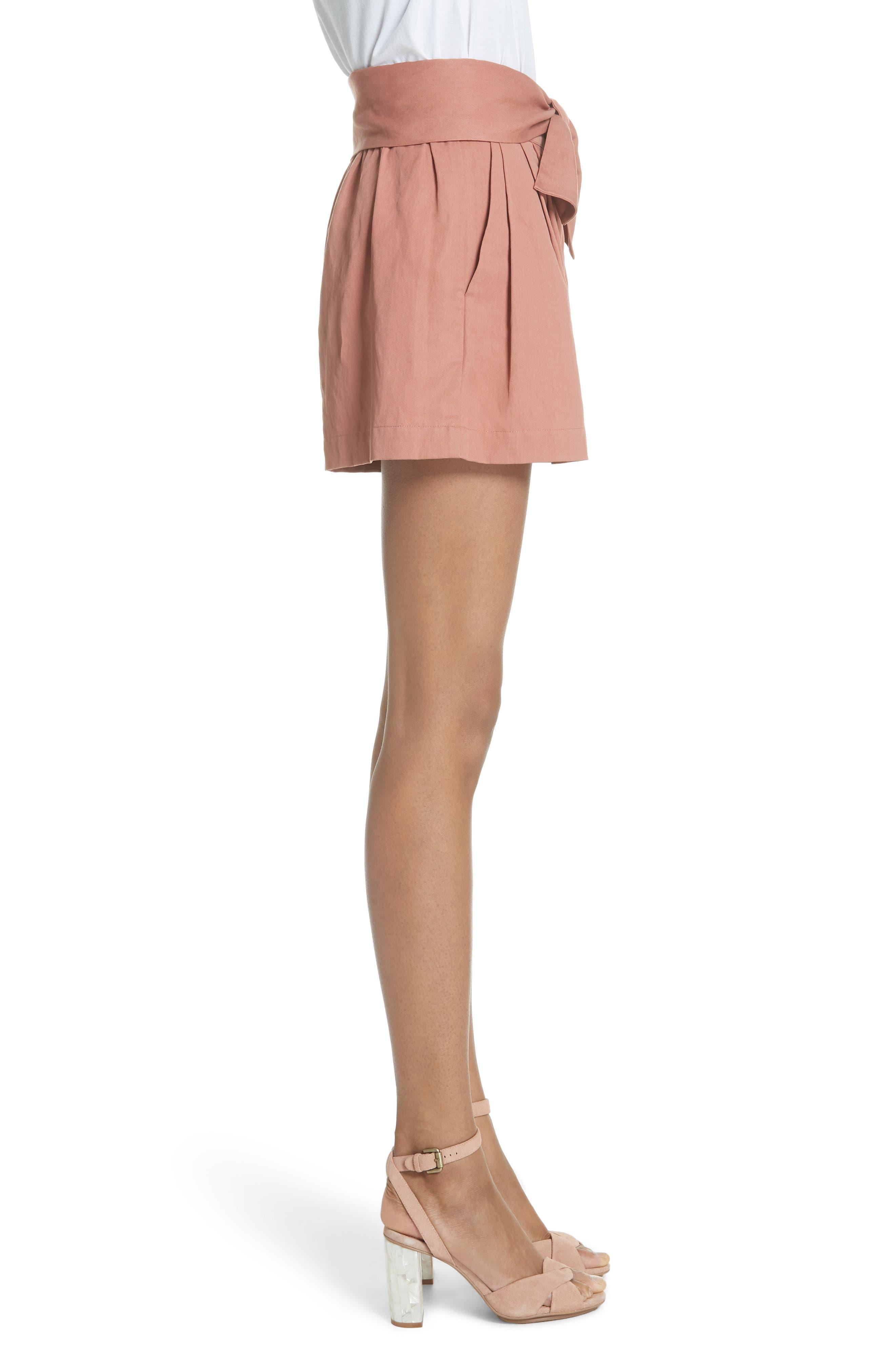 Martim Tie Waist Twill Shorts,                             Alternate thumbnail 3, color,                             200
