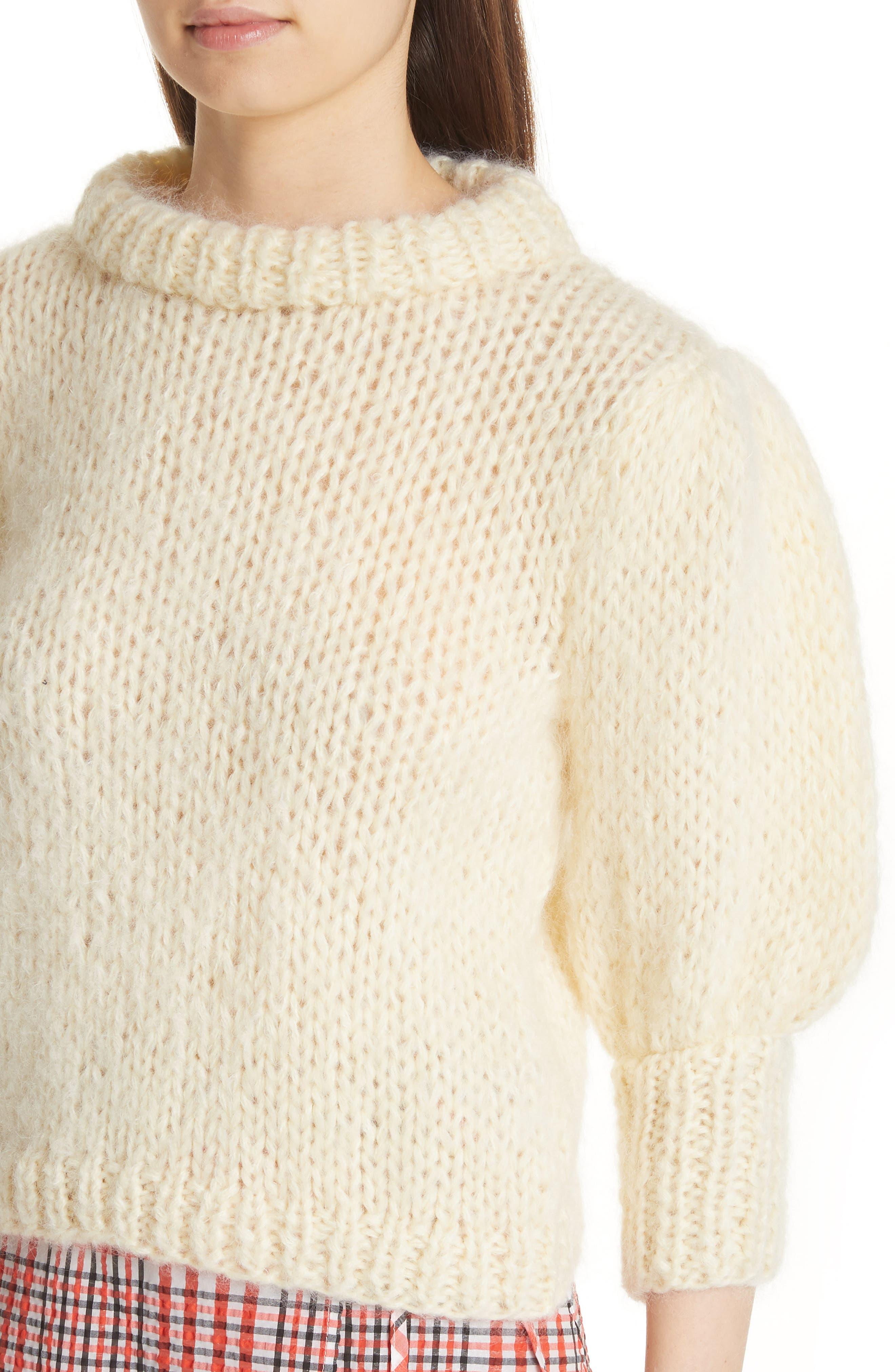 Juilliard Mohair & Wool Puff Sleeve Sweater,                             Alternate thumbnail 4, color,                             900