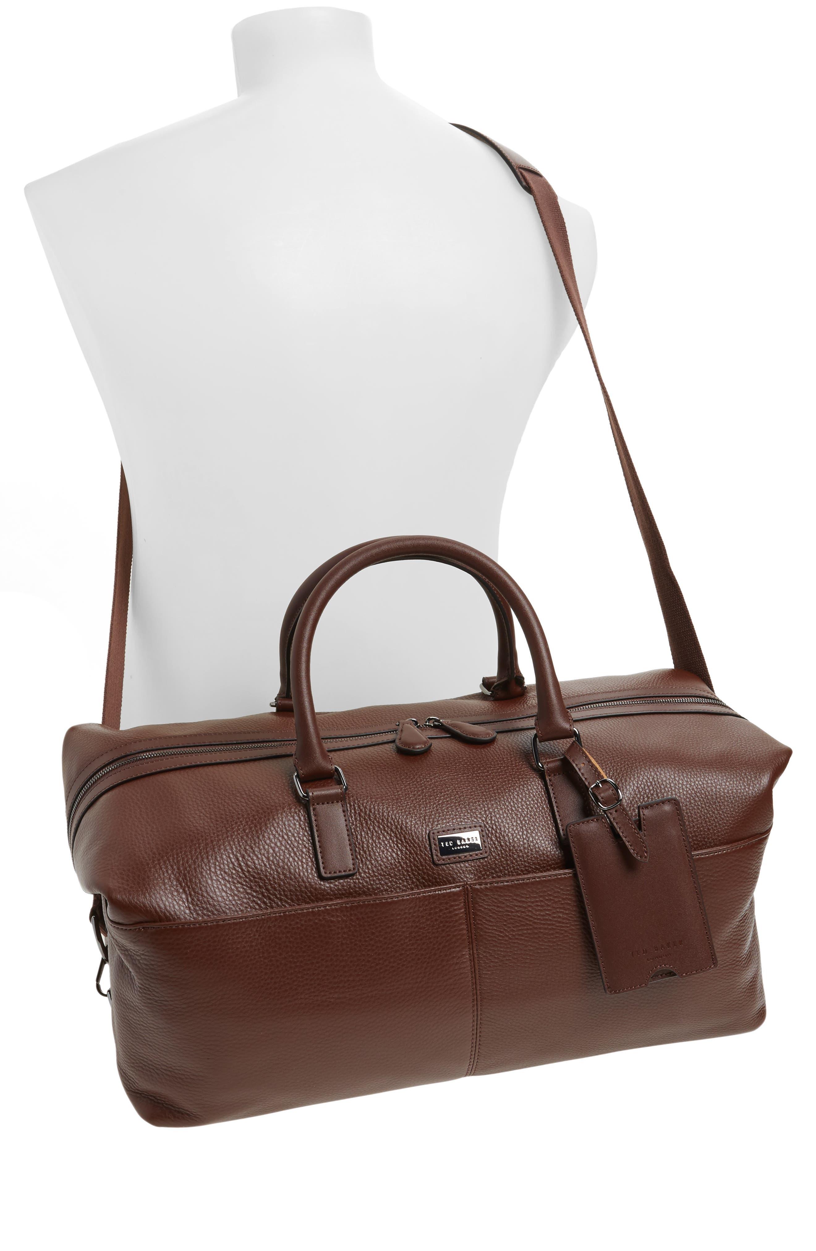 Leather Duffel Bag,                             Alternate thumbnail 2, color,                             217