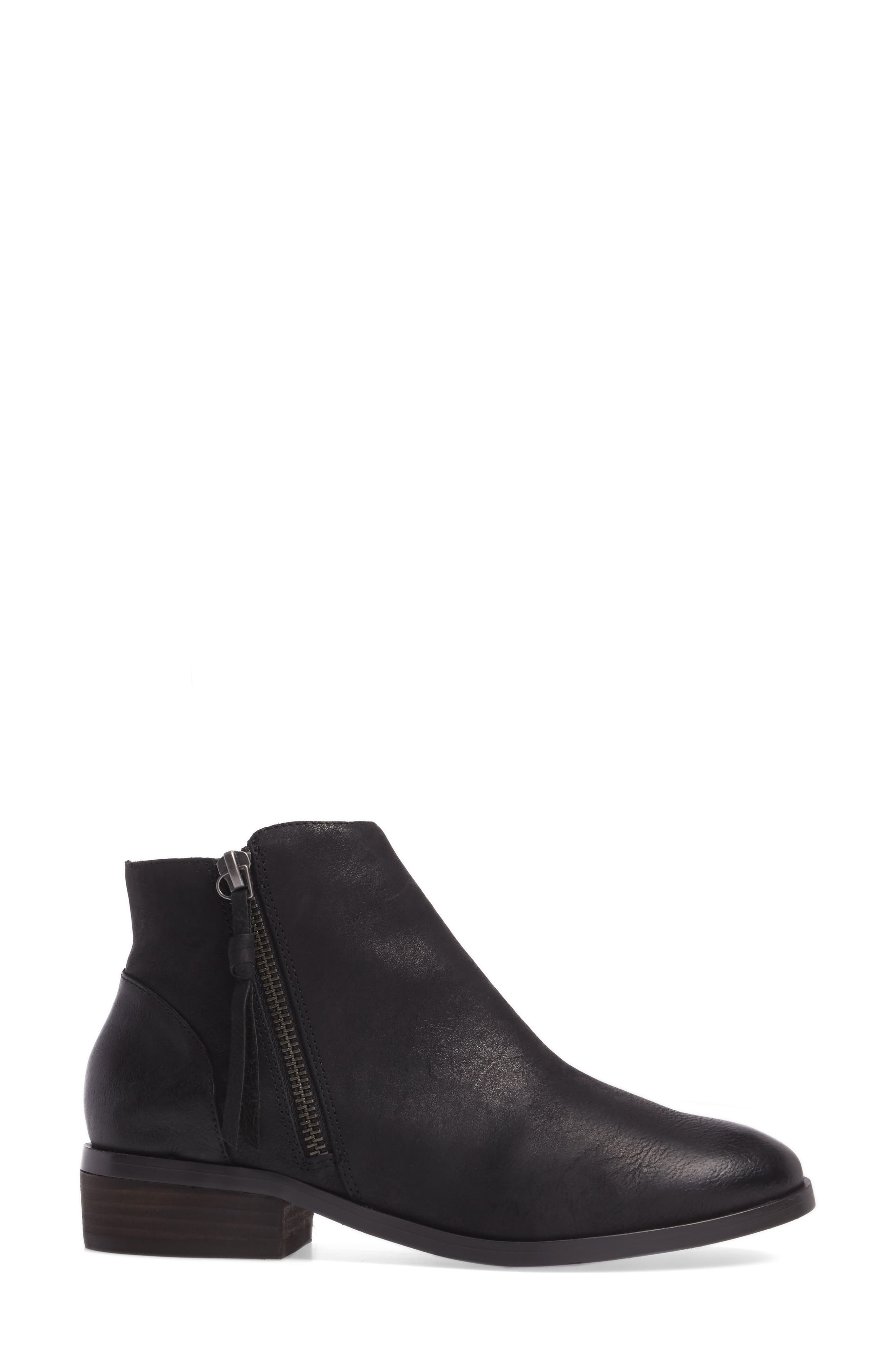 Abbott Bootie,                             Alternate thumbnail 3, color,                             BLACK LEATHER