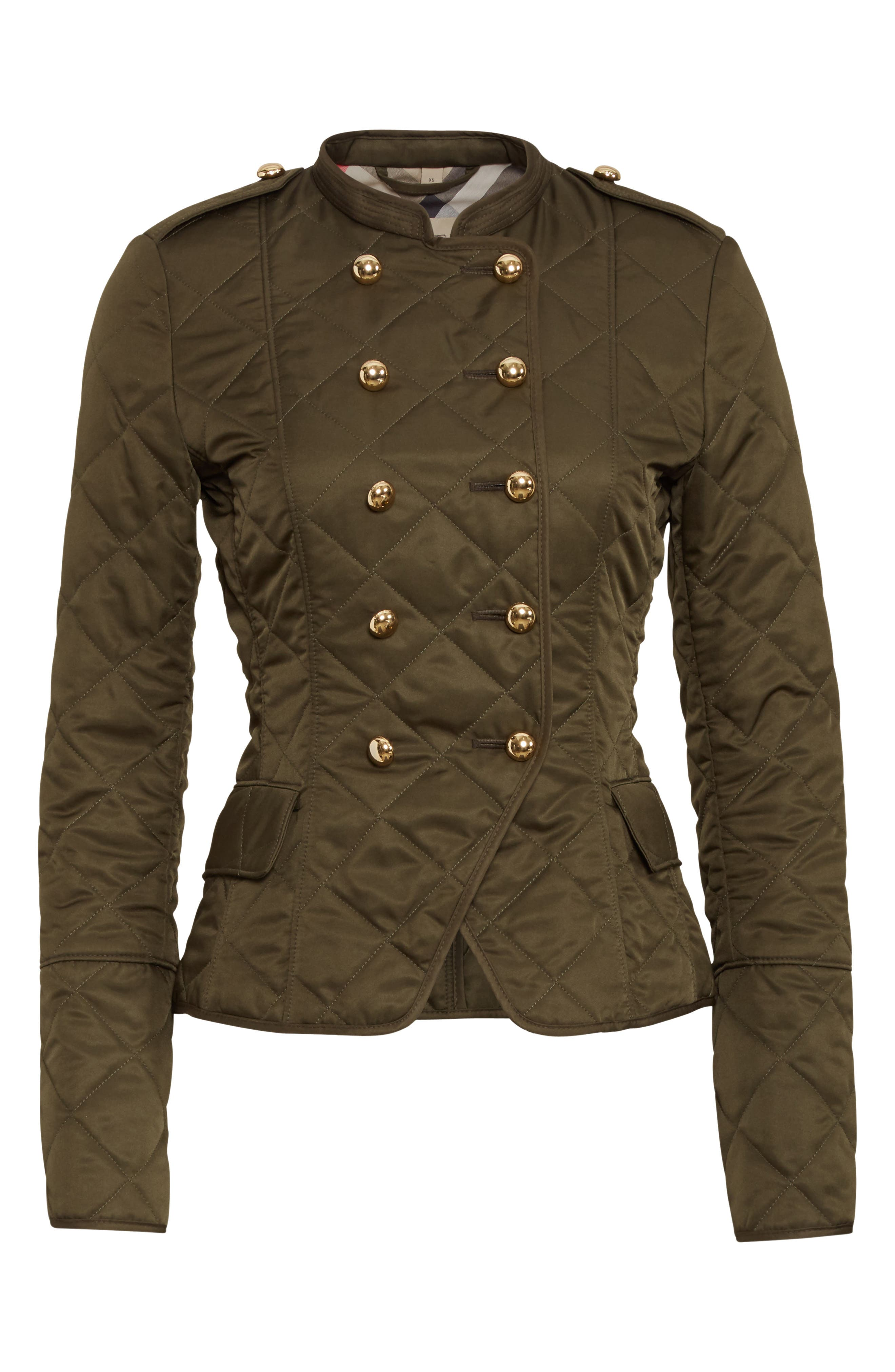 Boscastle Quilted Military Jacket,                             Alternate thumbnail 5, color,                             301
