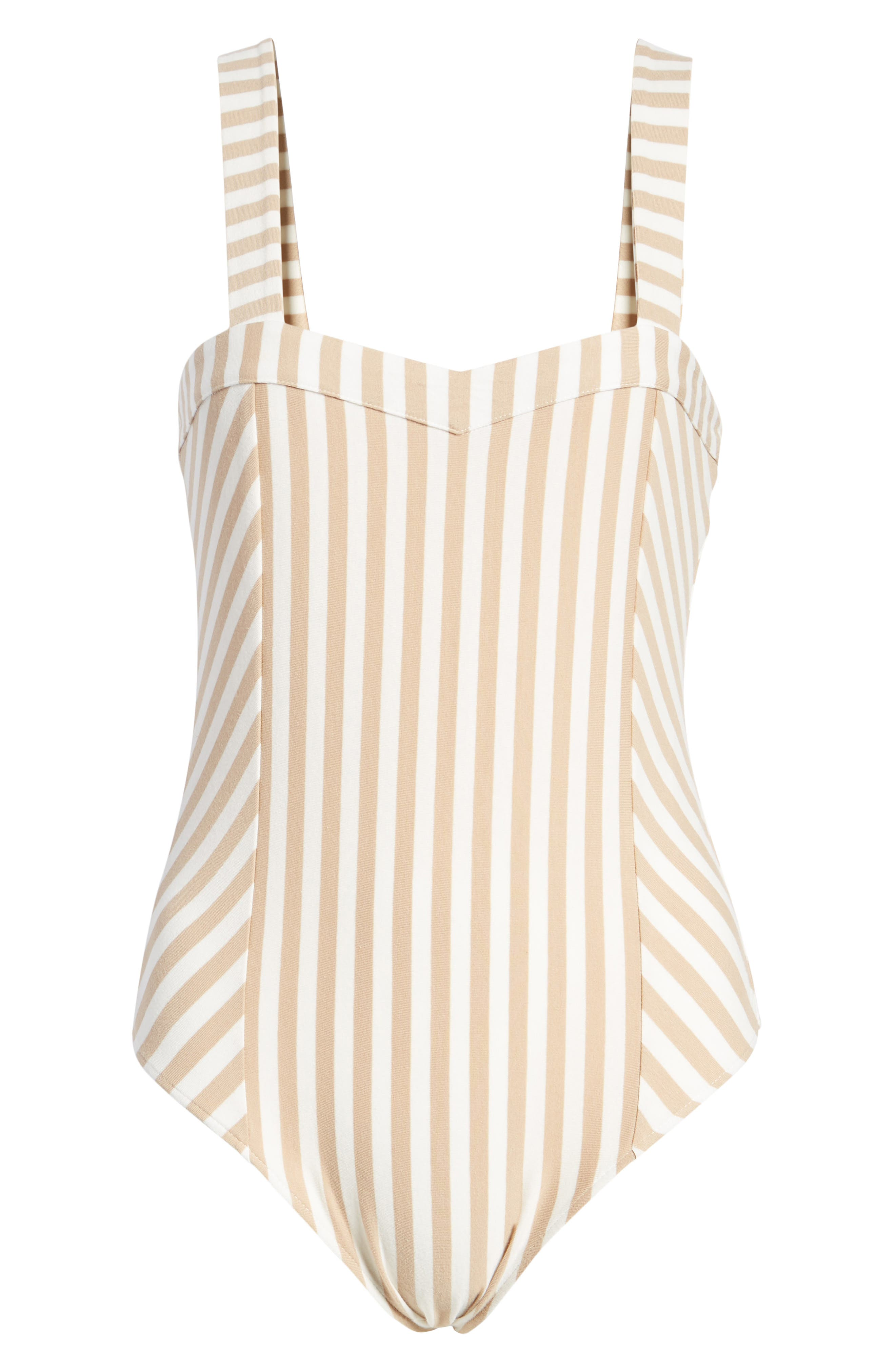 Stripe Bodysuit,                             Alternate thumbnail 6, color,                             260