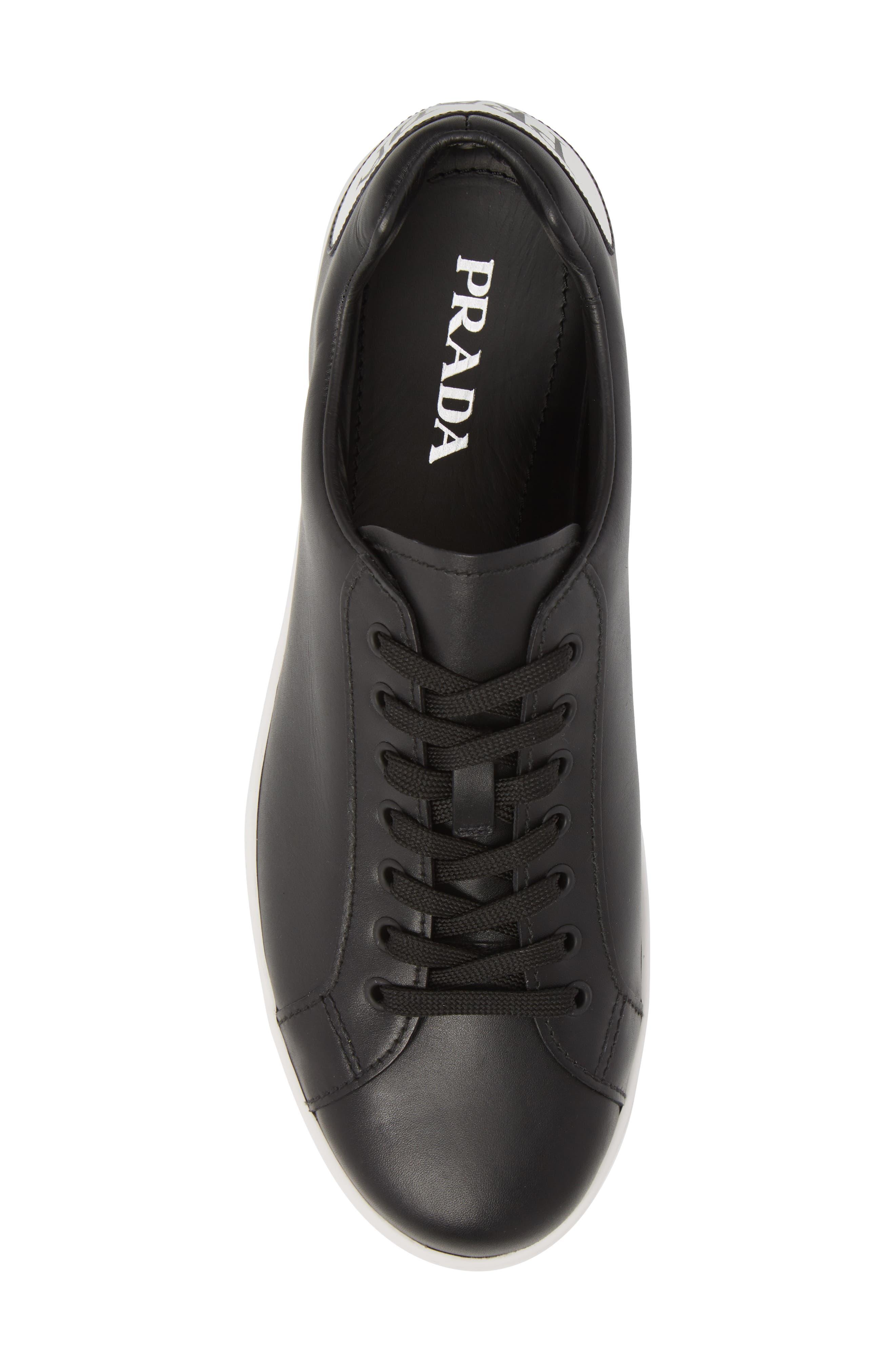 PRADA LINEA ROSSA,                             Patch Low Top Sneaker,                             Alternate thumbnail 5, color,                             012