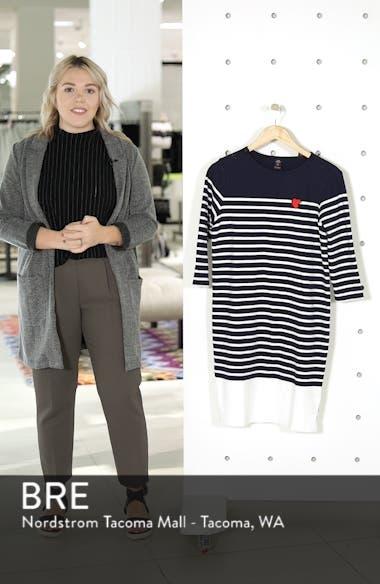 Heart Patch Breton Stripe Dress, sales video thumbnail