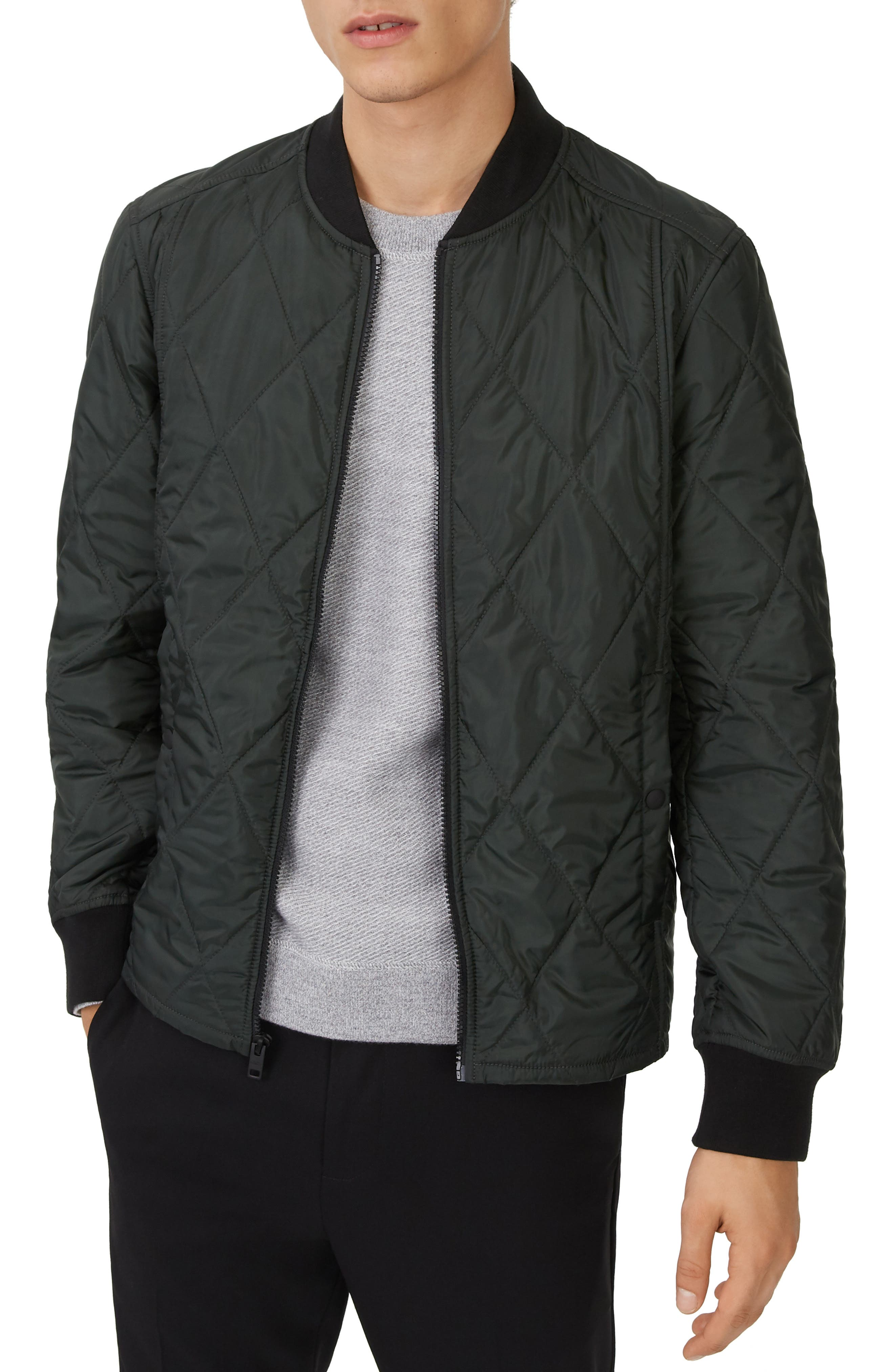 Quilted Jacket,                         Main,                         color, COMBAT GREEN