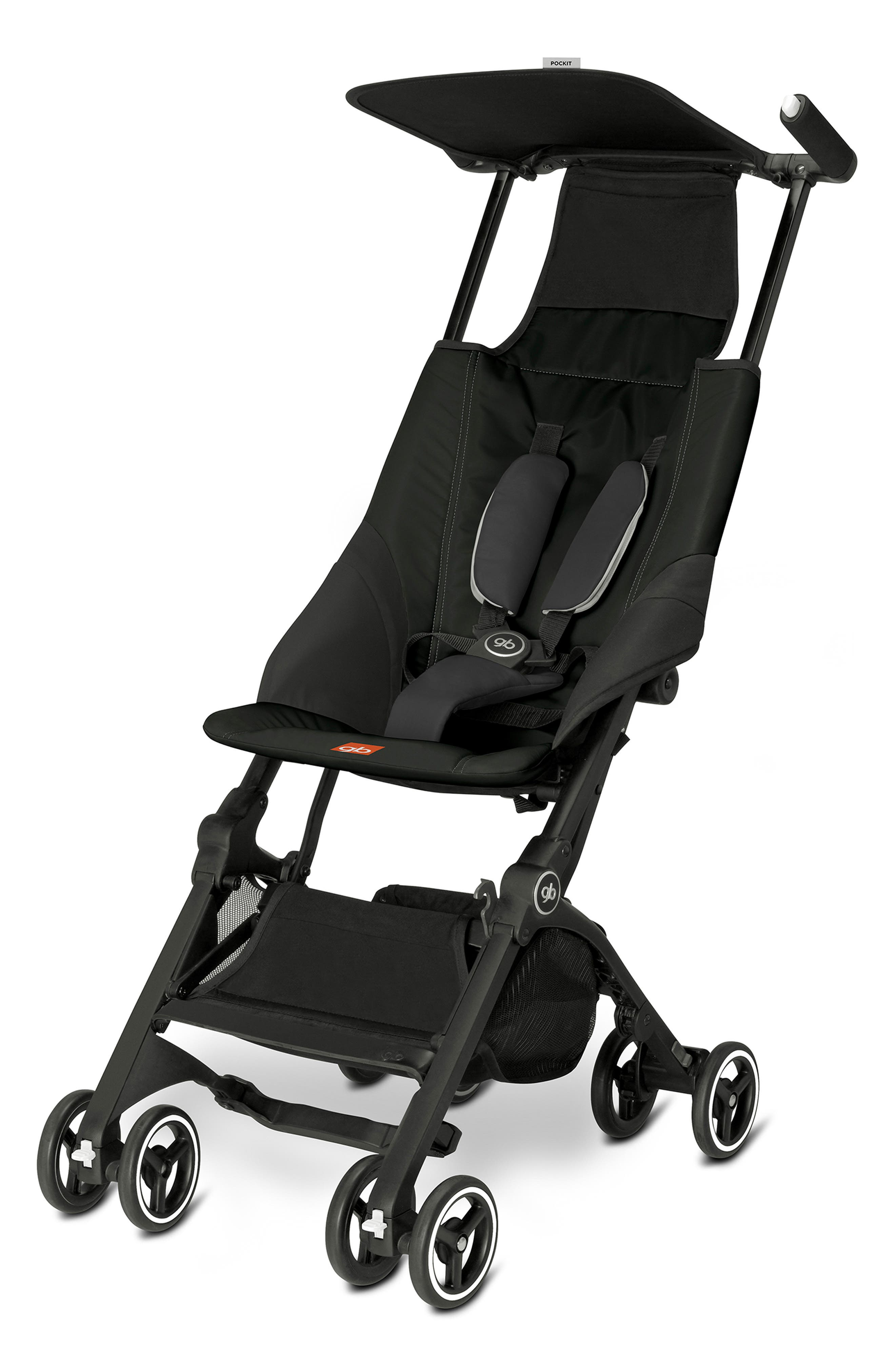 gp Pockit Stroller,                             Main thumbnail 1, color,                             MONUMENT BLACK