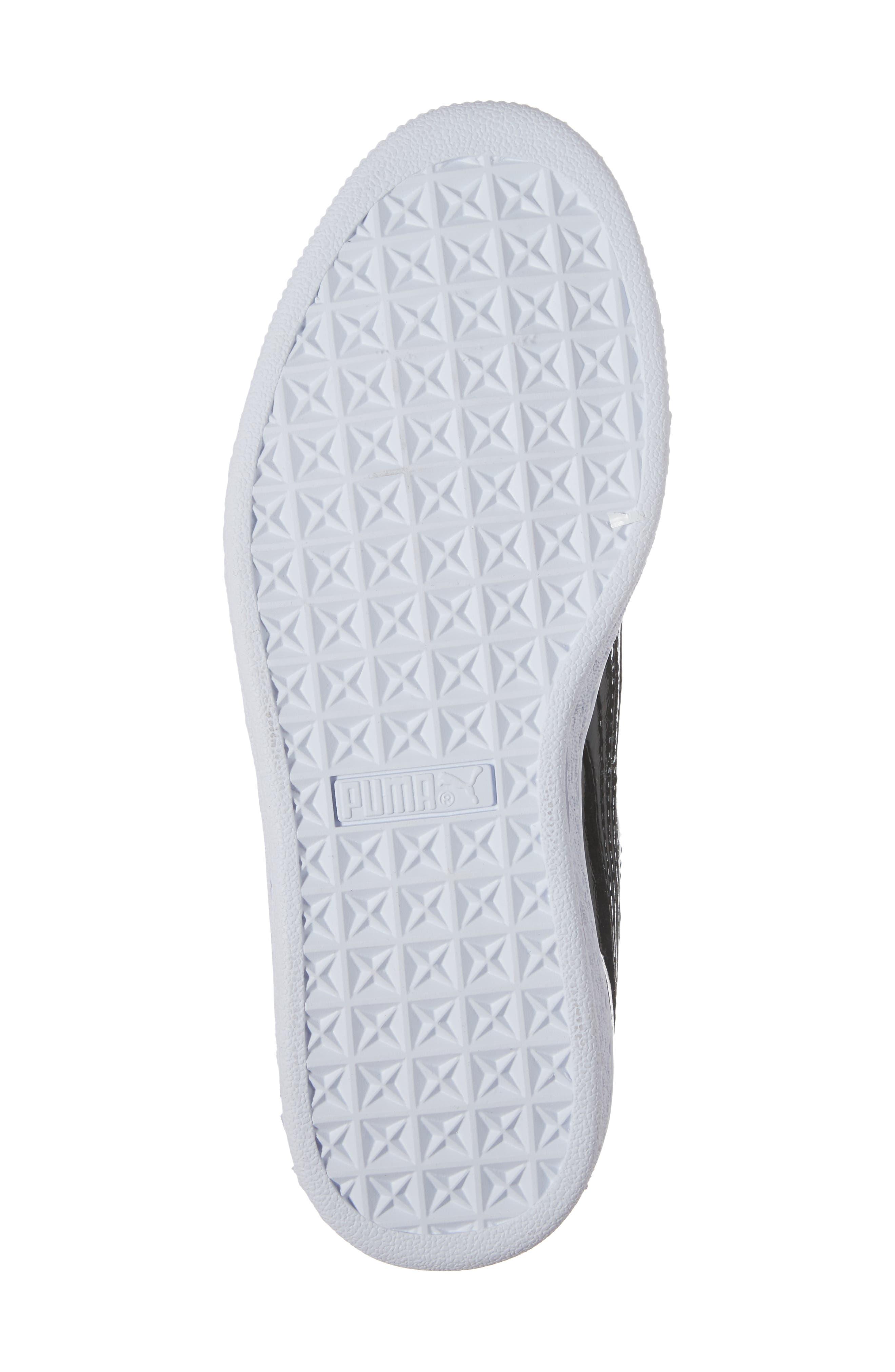 Basket Heart Glam Sneaker,                             Alternate thumbnail 6, color,                             001