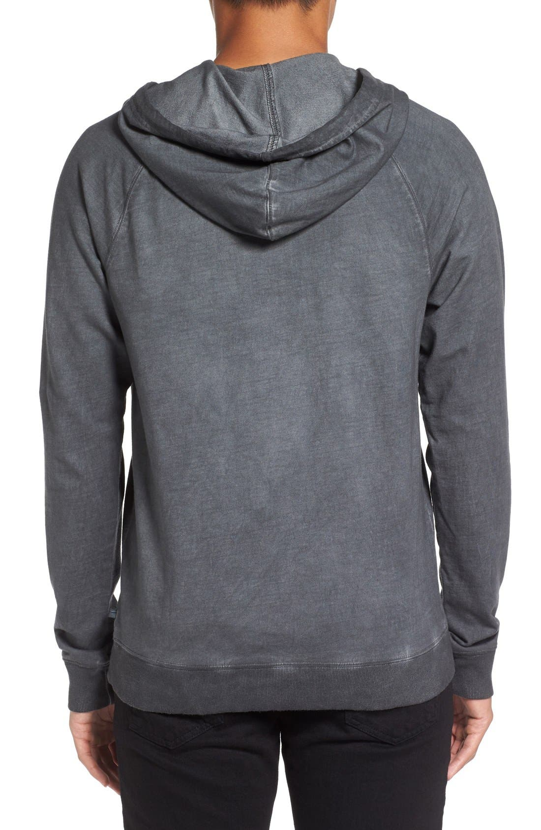 Faded Henley Hoodie,                             Alternate thumbnail 4, color,