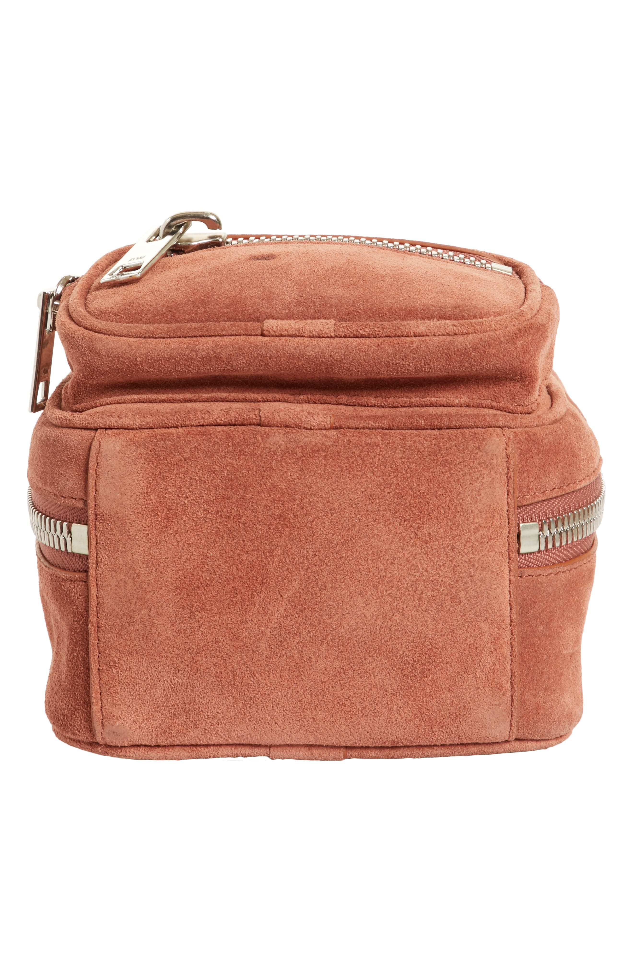 Mini Attica Suede Backpack-Shaped Crossbody Bag,                             Alternate thumbnail 6, color,                             200