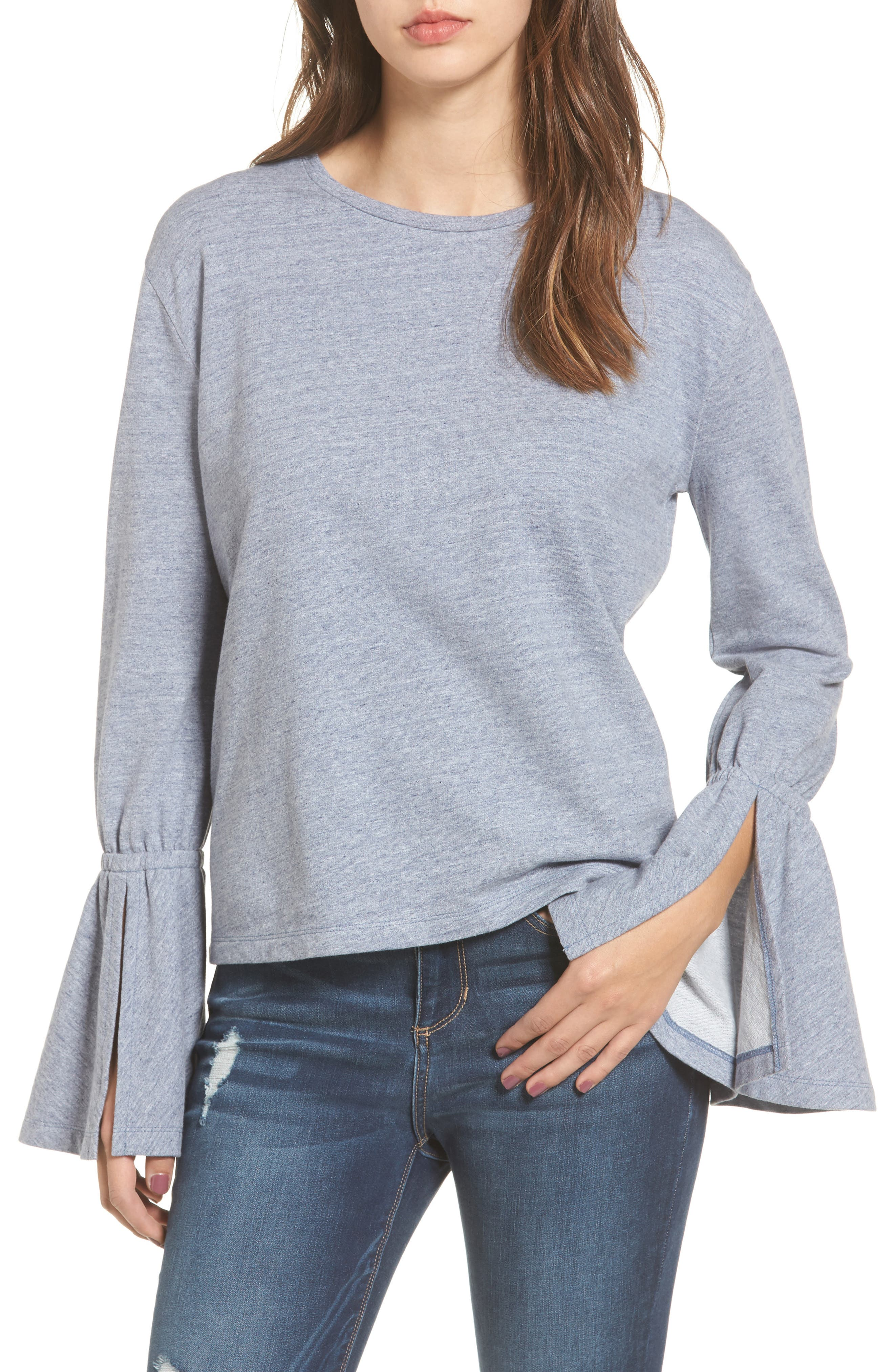 Trumpet Sleeve Top,                         Main,                         color, 420
