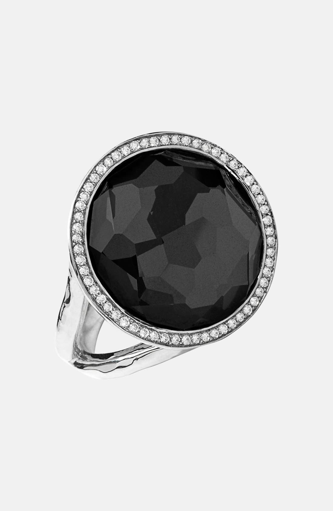 'Stella - Lollipop' Cocktail Ring,                             Main thumbnail 1, color,                             SILVER/ HEMATITE