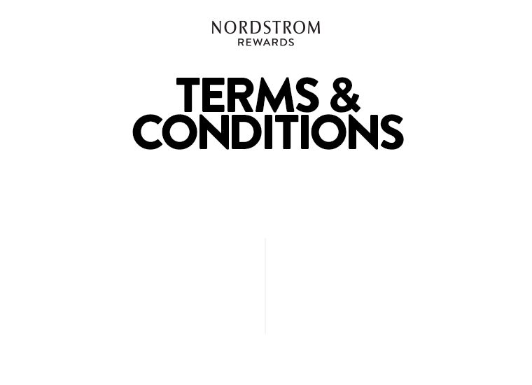 Canada Nordstrom Rewards Terms and Conditions