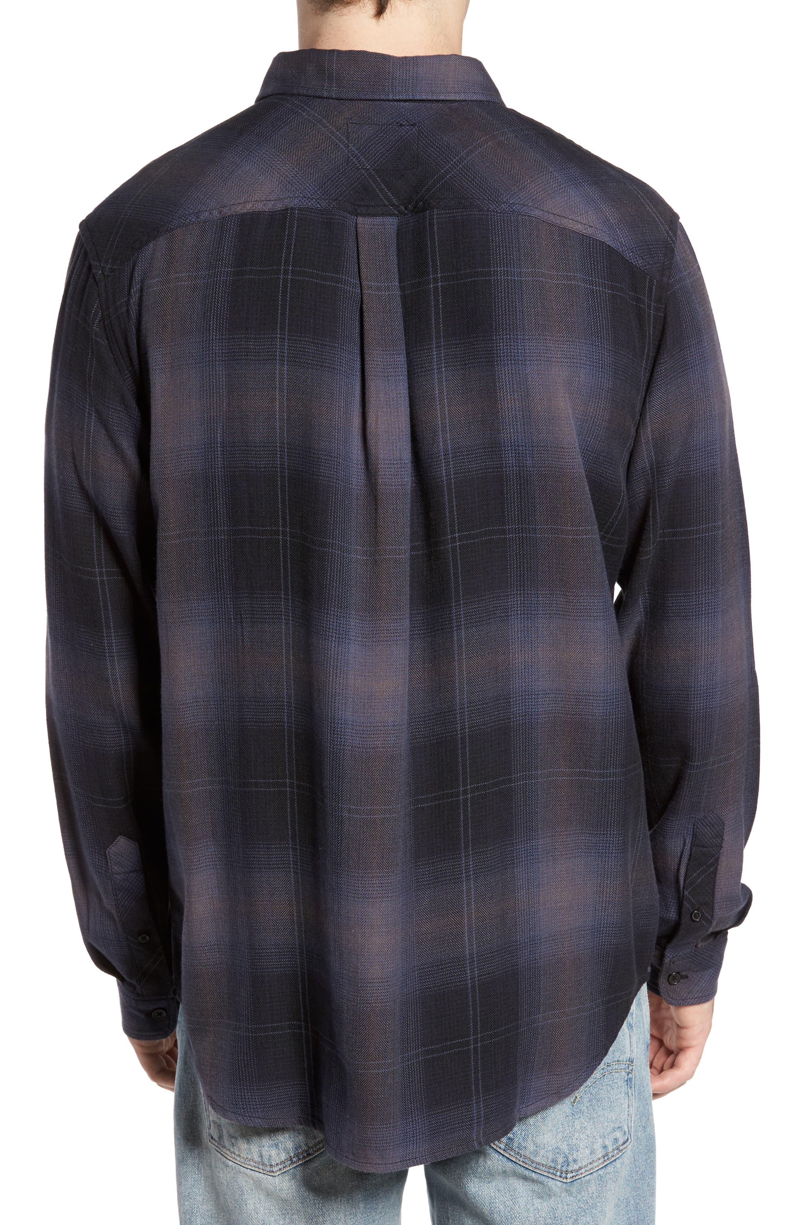 Lennox Sport Shirt,                             Alternate thumbnail 2, color,                             CHARCOAL/ BLACK
