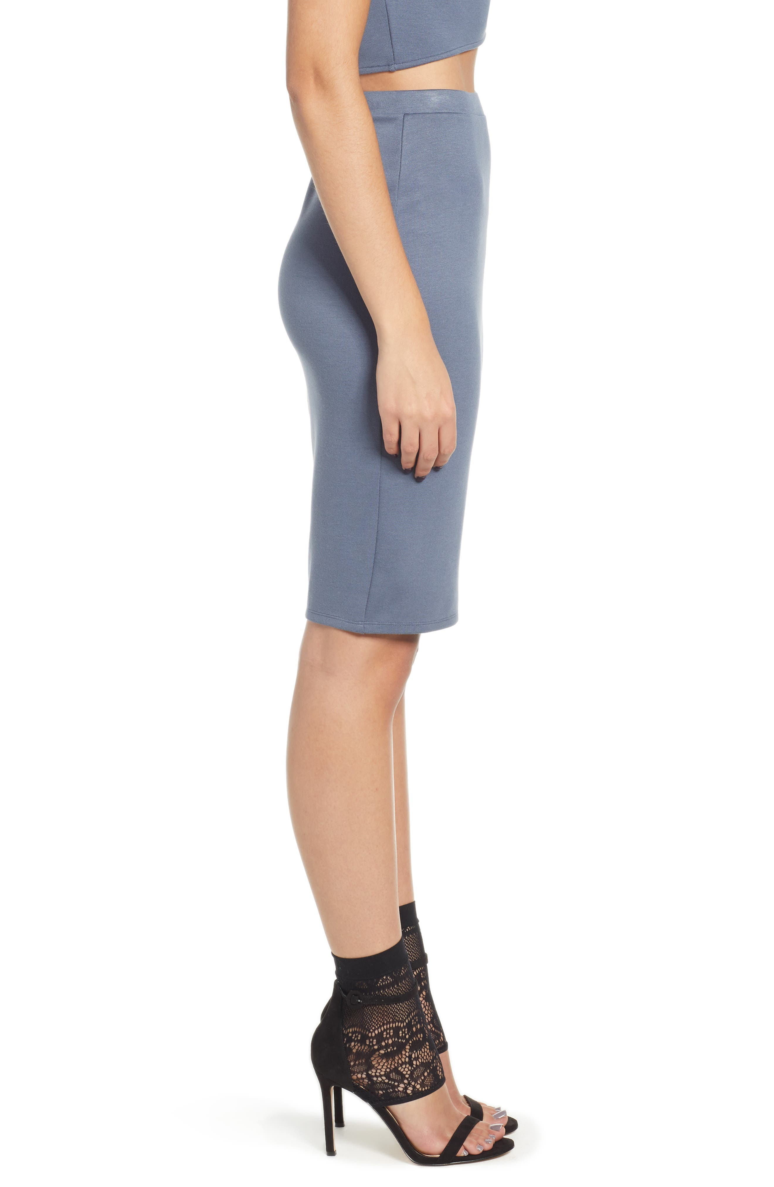 Pencil Skirt,                             Alternate thumbnail 3, color,                             GREY GRISAILLE