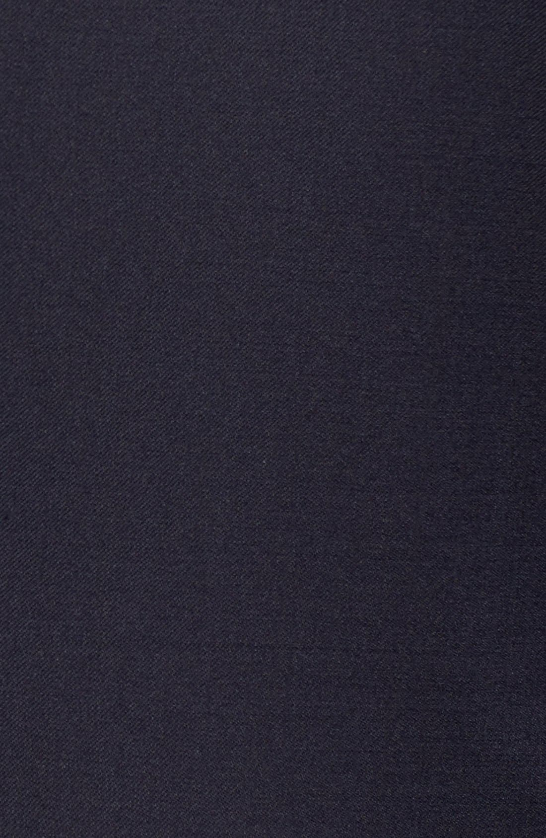 Ryan/Win Extra Trim Fit Solid Wool Suit,                             Alternate thumbnail 5, color,                             DARK BLUE