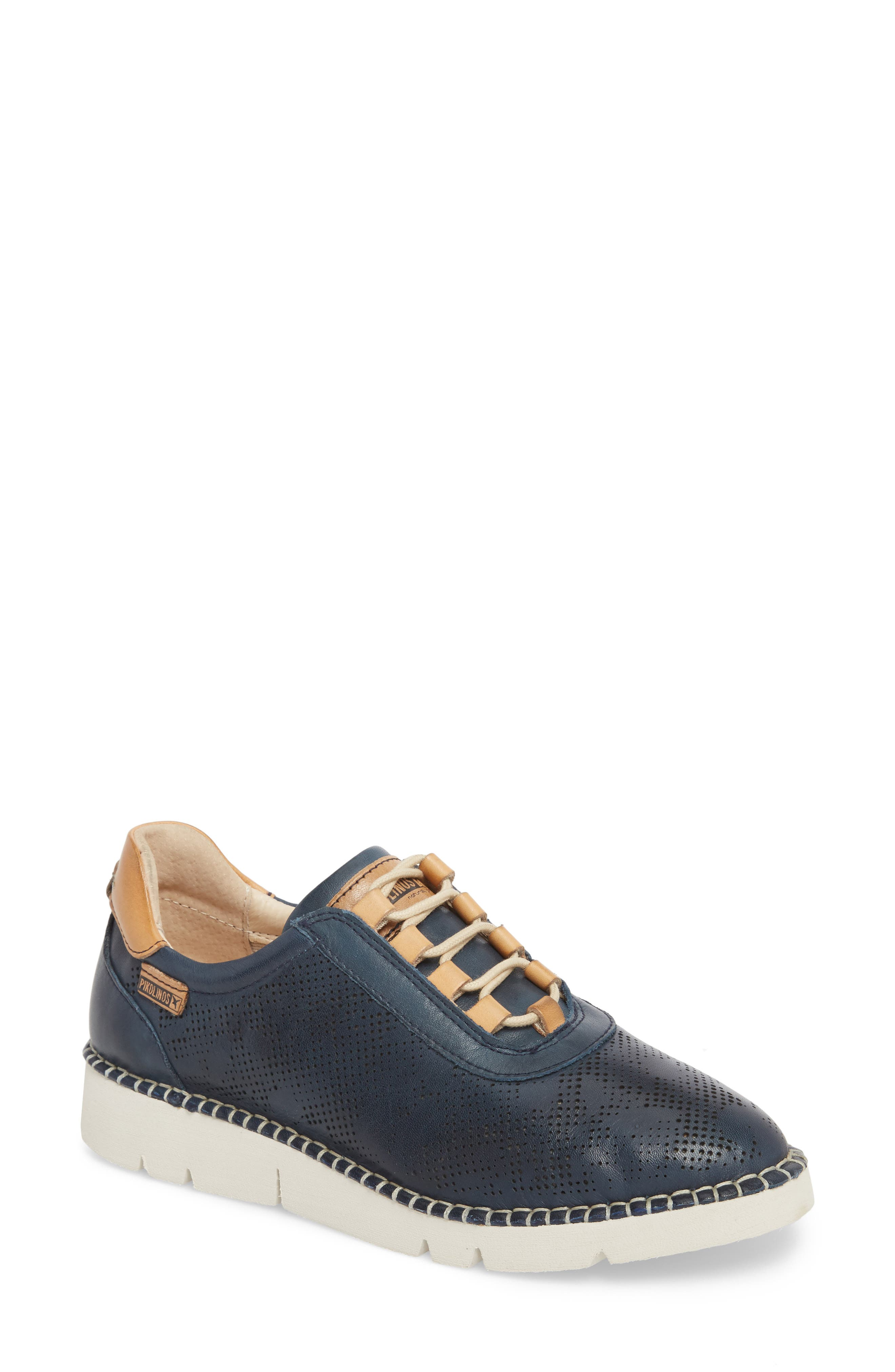 Vera Sneaker,                         Main,                         color, OCEAN LEATHER
