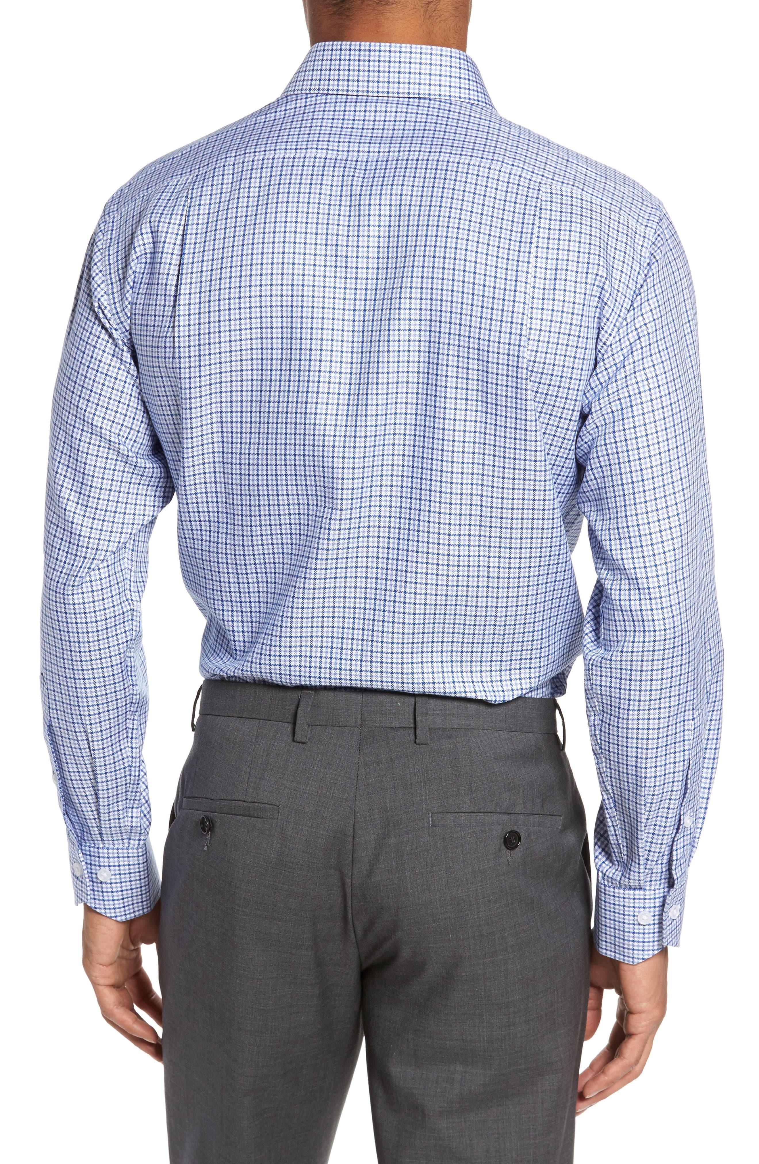 LORENZO UOMO,                             Trim Fit Textured Check Dress Shirt,                             Alternate thumbnail 2, color,                             410
