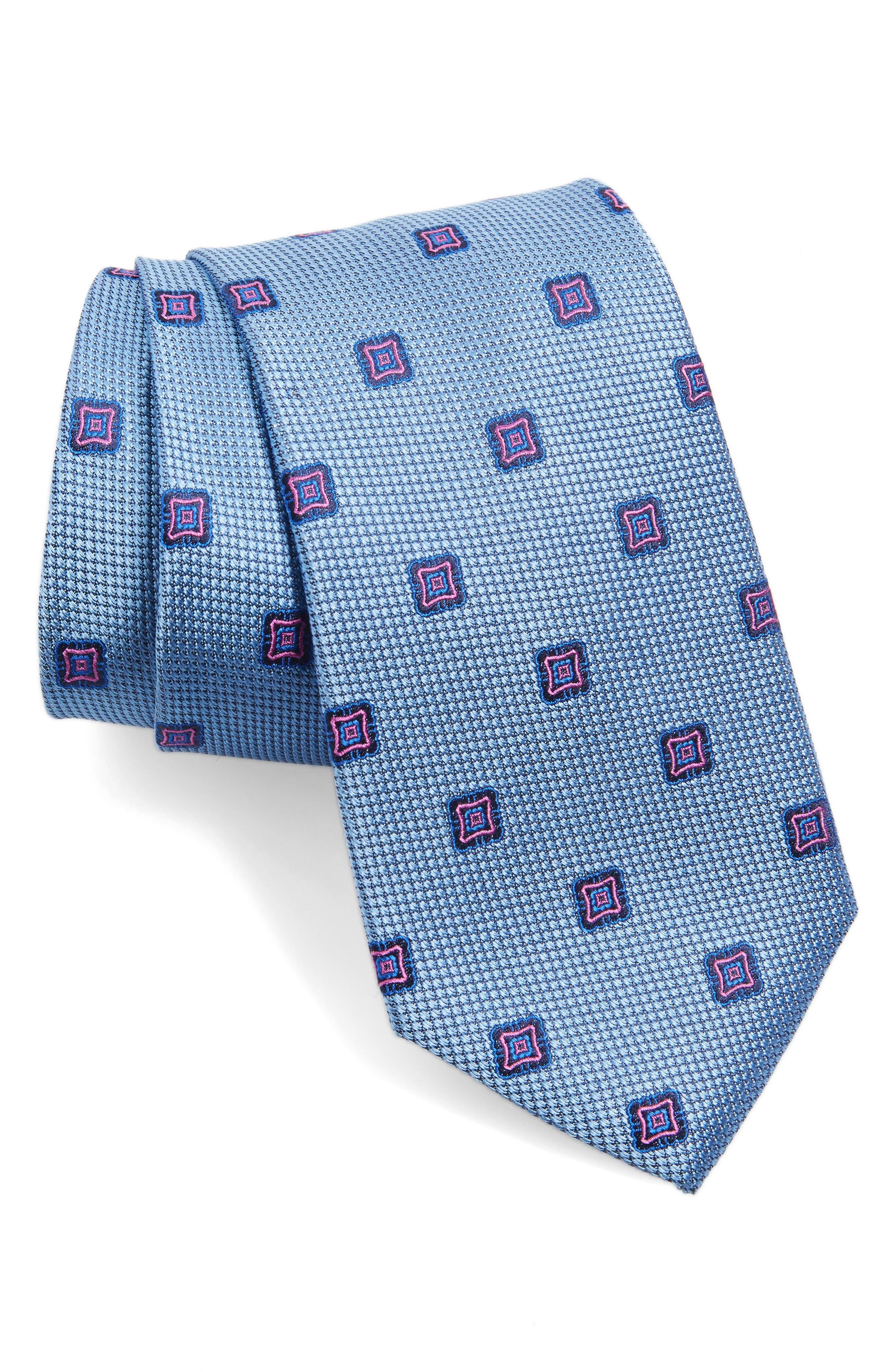Medallion Silk Tie,                         Main,                         color, 445