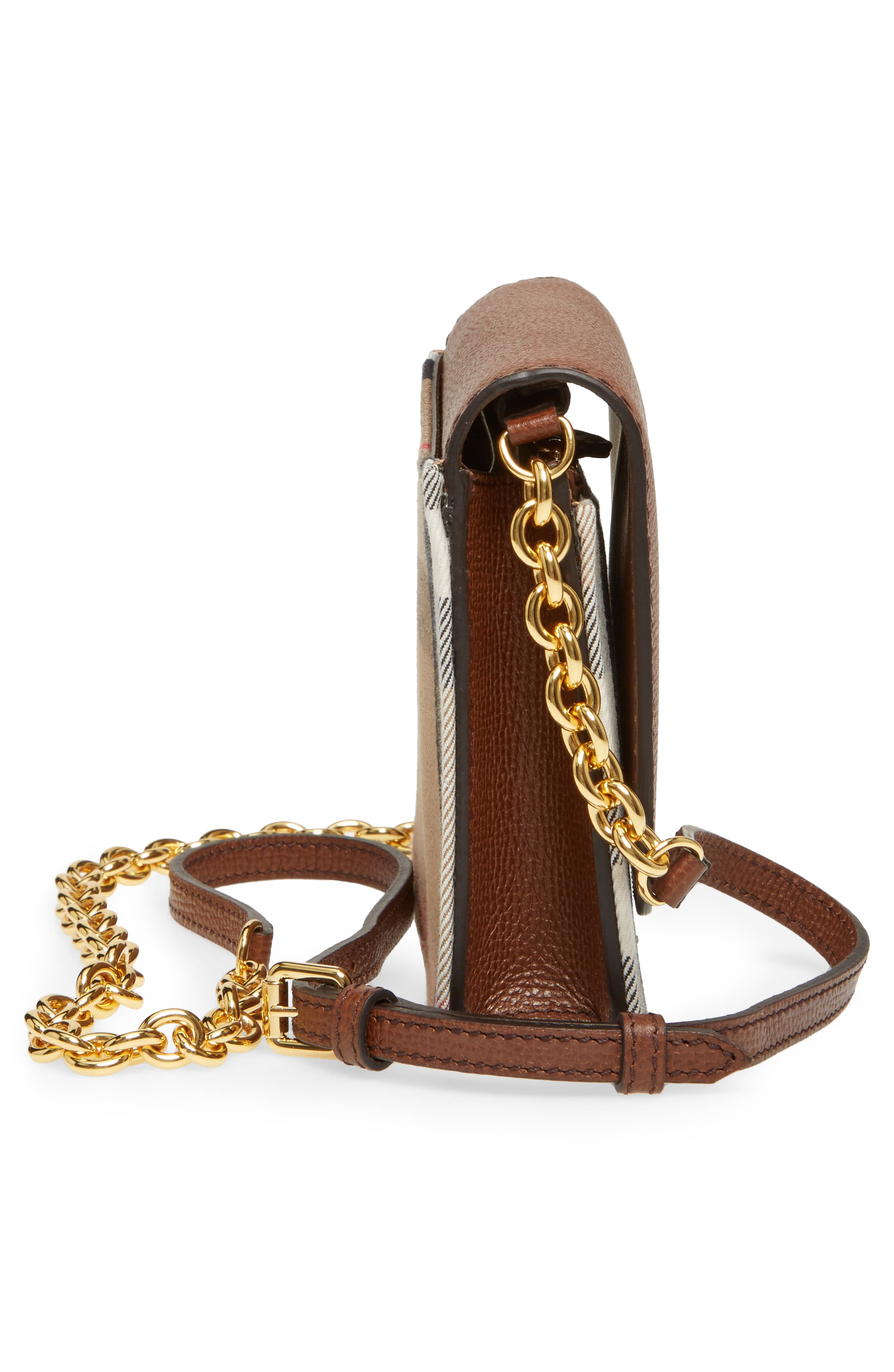 Hampshire House Check & Leather Wallet on a Chain,                             Alternate thumbnail 10, color,