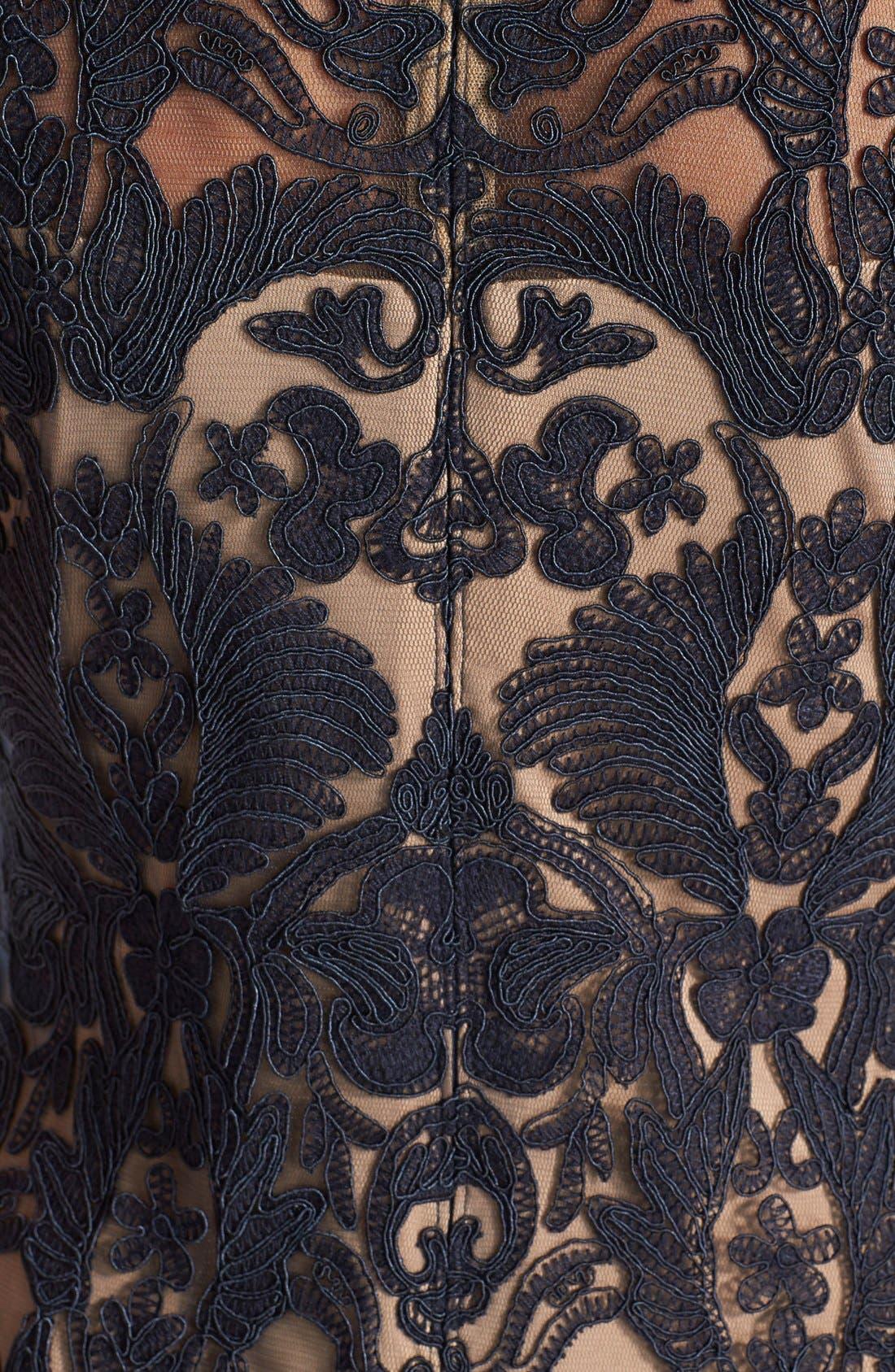 Illusion Yoke Lace Sheath Dress,                             Alternate thumbnail 74, color,