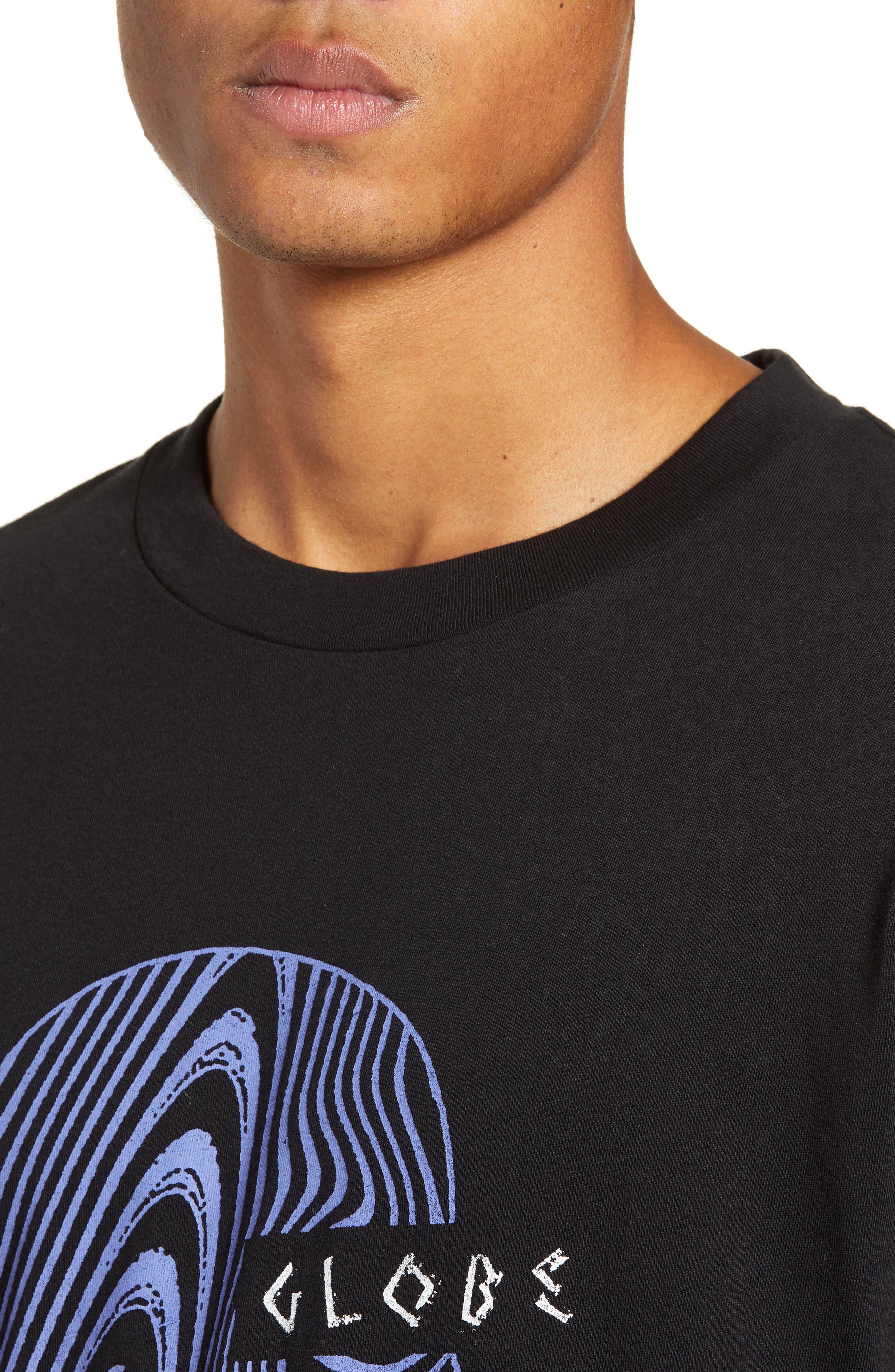 Oracle Long Sleeve T-Shirt,                             Alternate thumbnail 4, color,                             BLACK