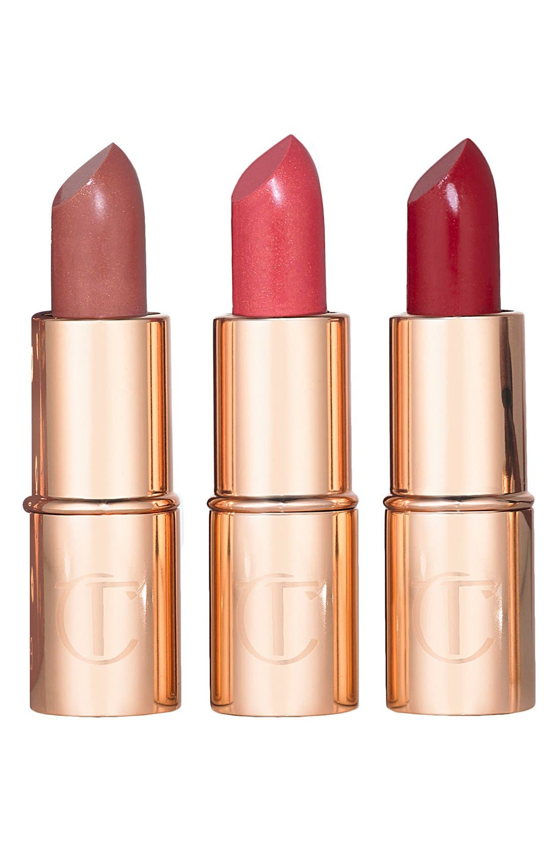 CHARLOTTE TILBURY,                             Matte Revolution Mini Lipstick Trio,                             Alternate thumbnail 2, color,                             000