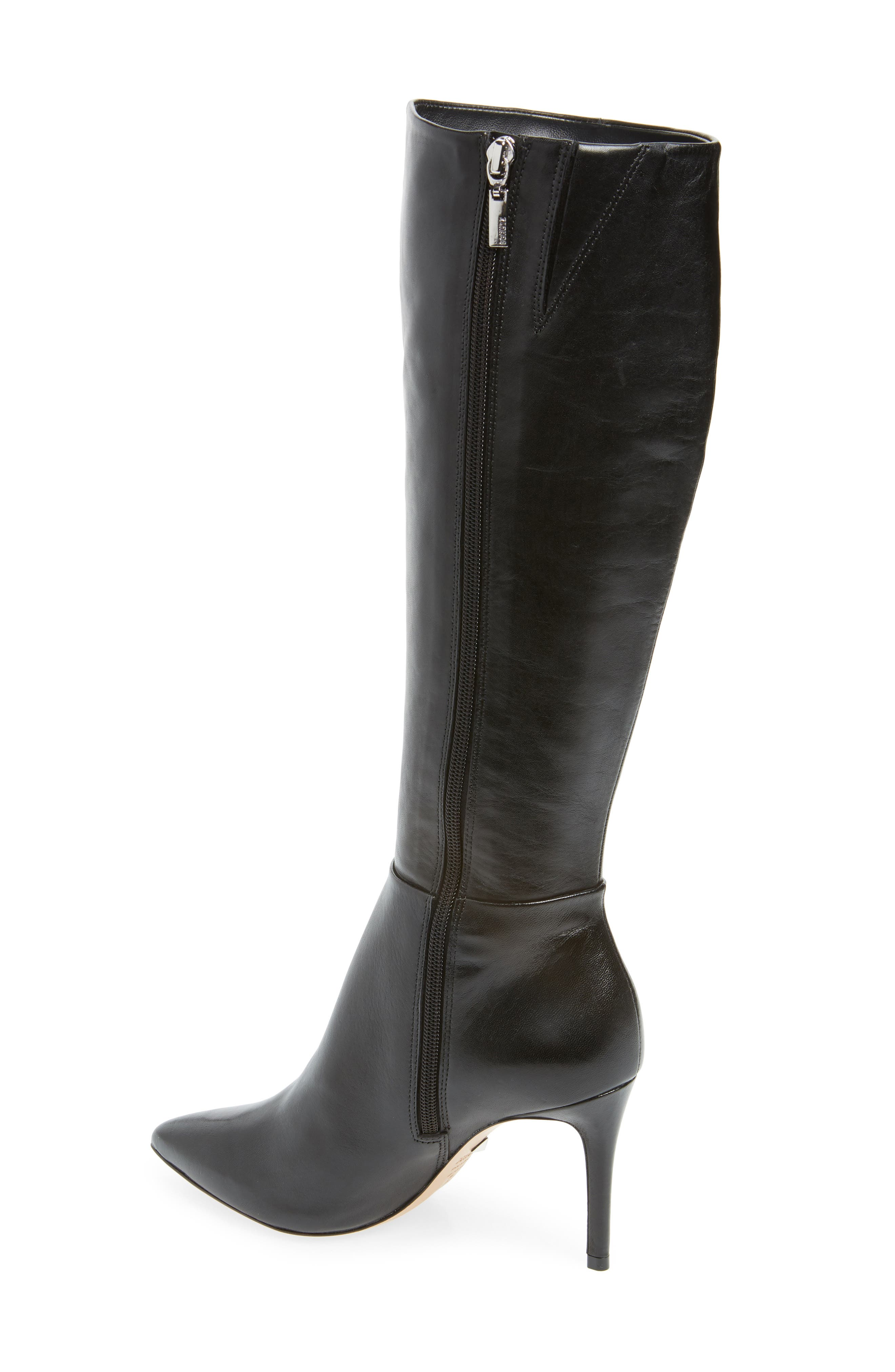 Magalli Knee High Boot,                             Alternate thumbnail 2, color,                             BLACK LEATHER