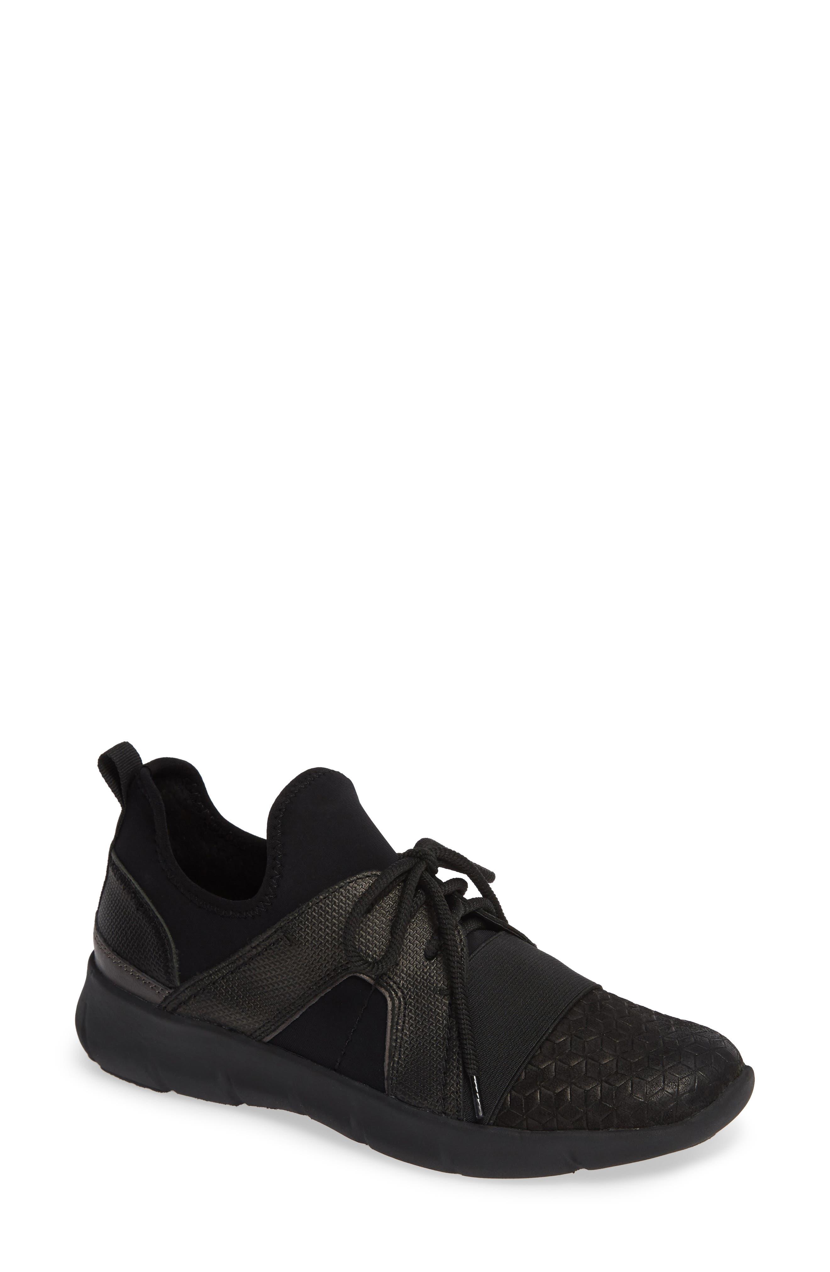 Transfer Sneaker,                         Main,                         color, BLACK