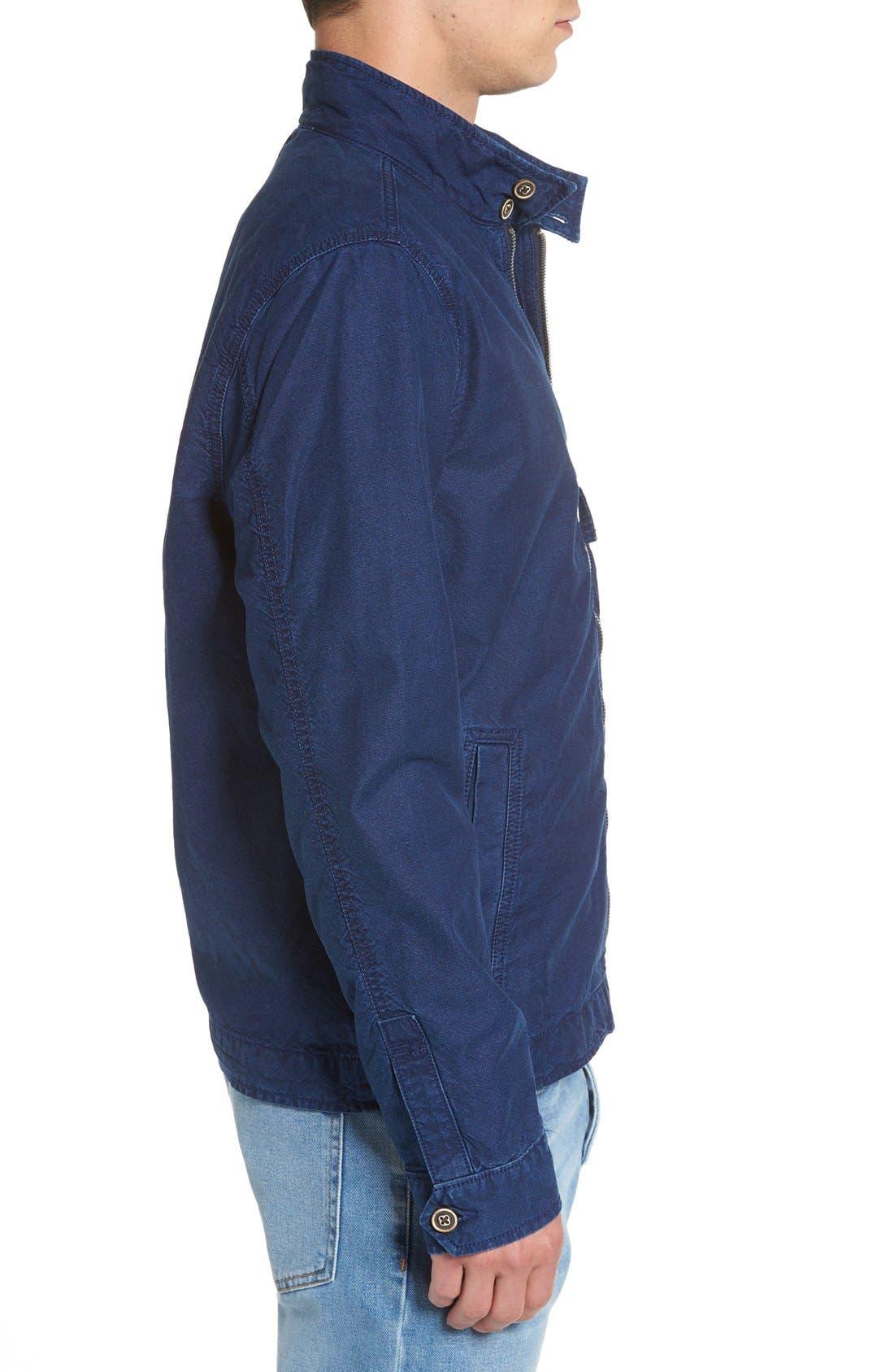 LUCKY BRAND,                             Denim Harrington Jacket,                             Alternate thumbnail 3, color,                             410