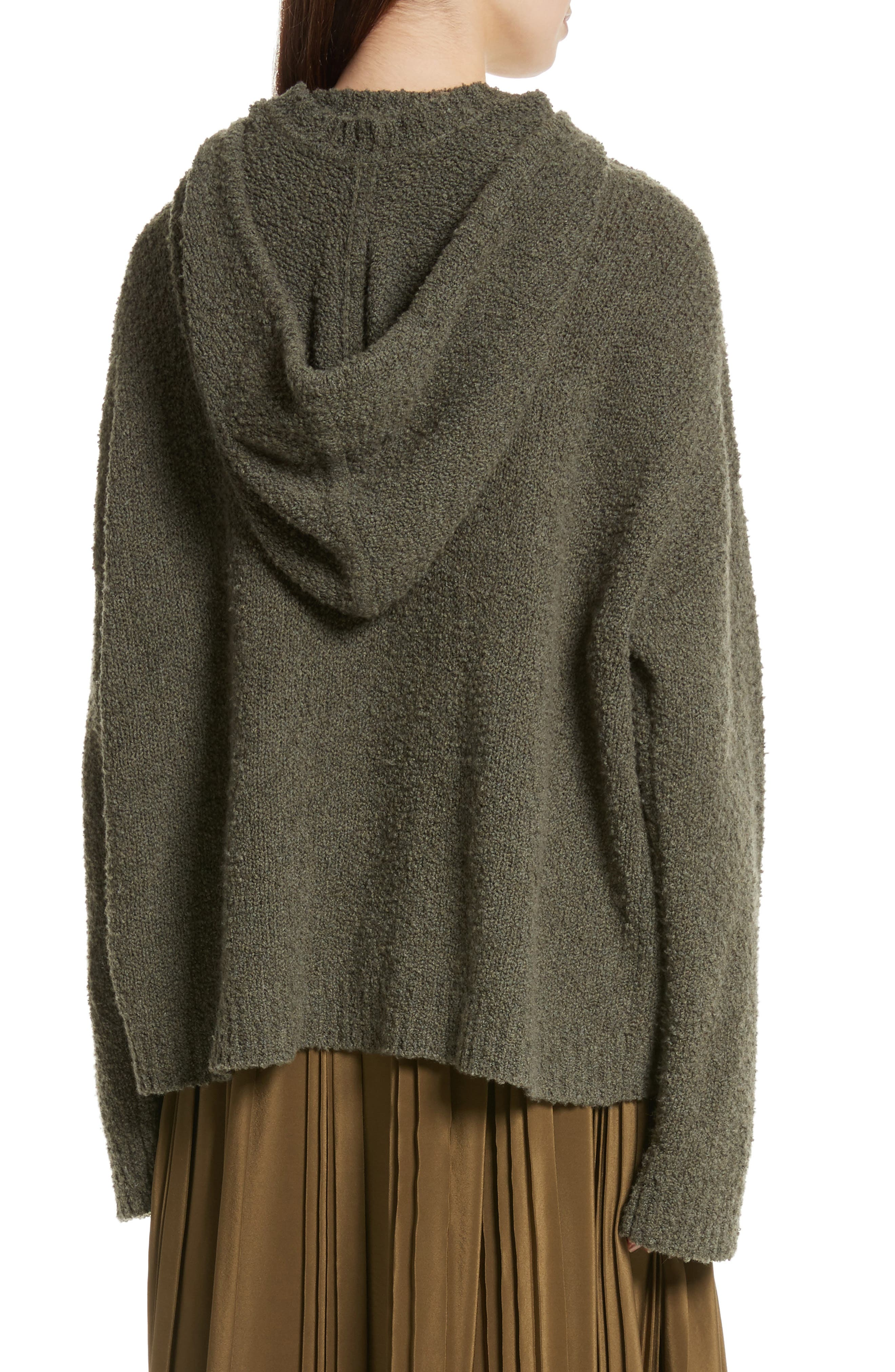 Merino Wool & Cashmere Reversible Hooded Sweater,                             Alternate thumbnail 3, color,                             300