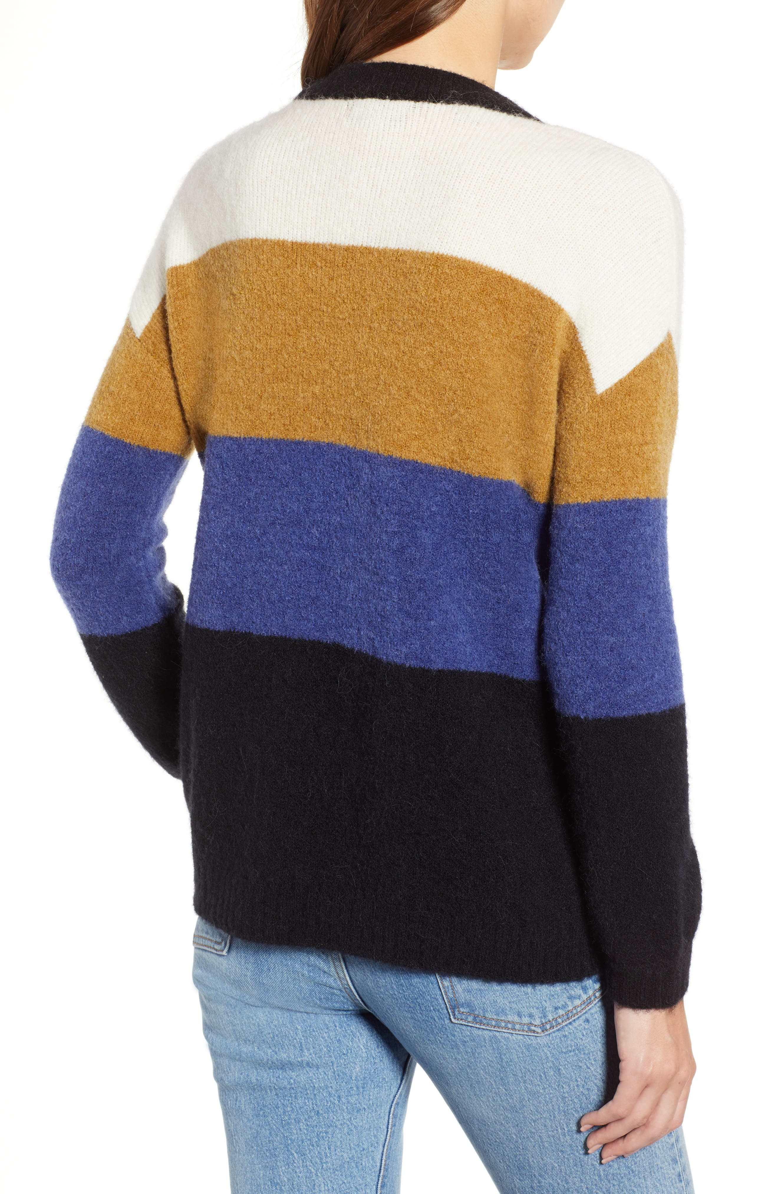 RAILS,                             Sylvie Stripe Sweater,                             Alternate thumbnail 3, color,                             900
