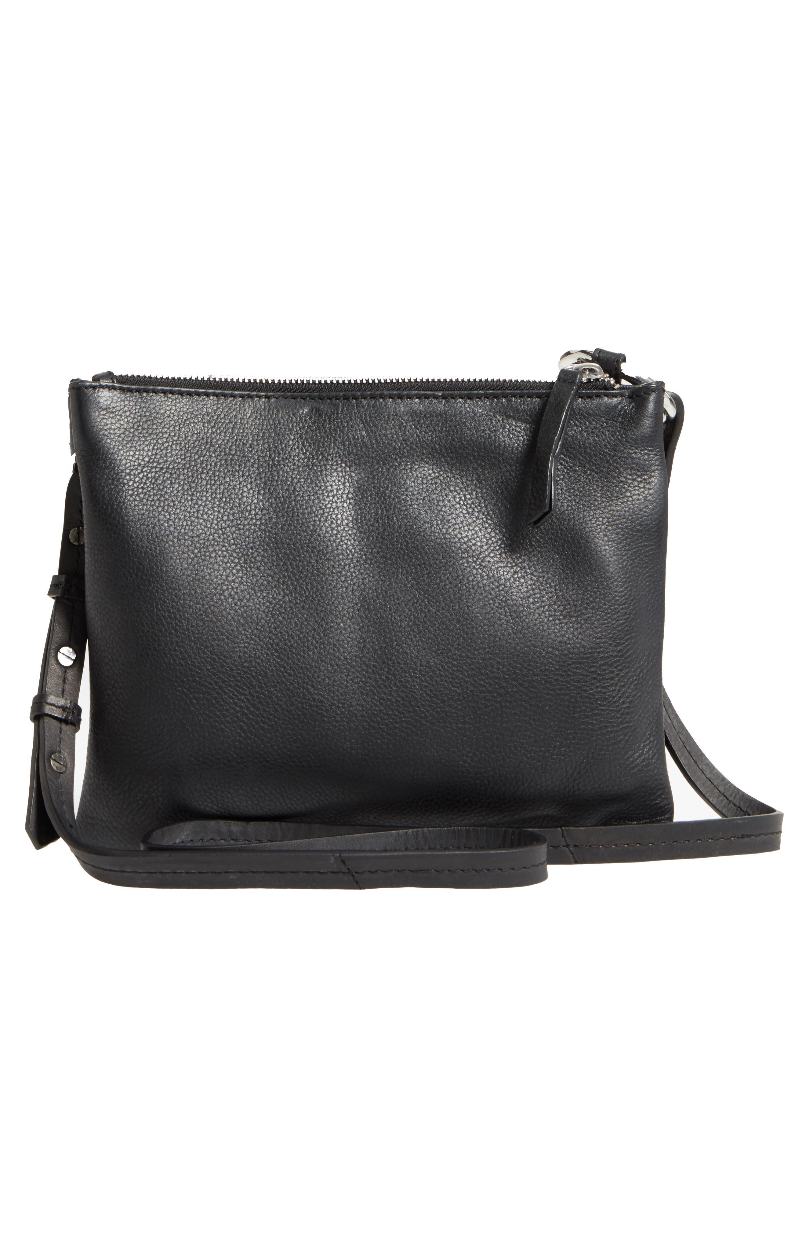 Premium Leather Bridget Crossbody Bag,                             Alternate thumbnail 3, color,                             001