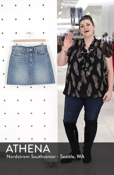 Raw Hem Denim Skirt, sales video thumbnail