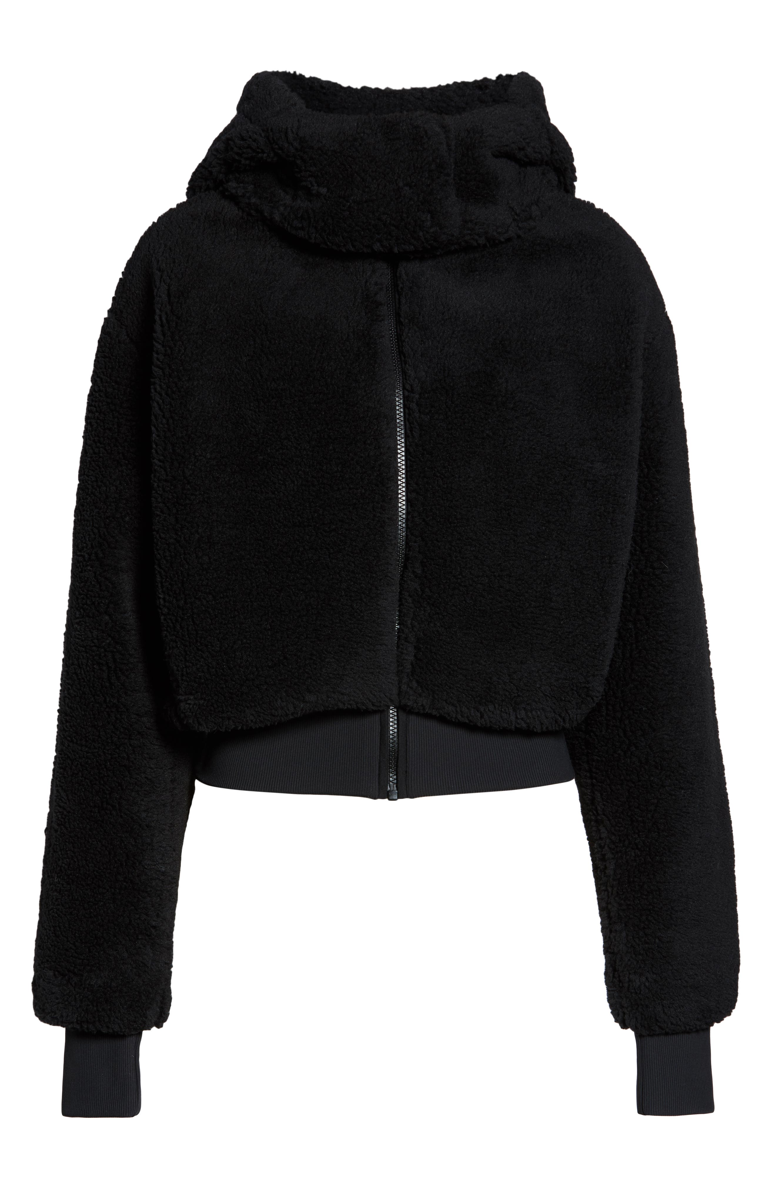 Foxy Faux Fur Jacket,                             Alternate thumbnail 7, color,                             BLACK