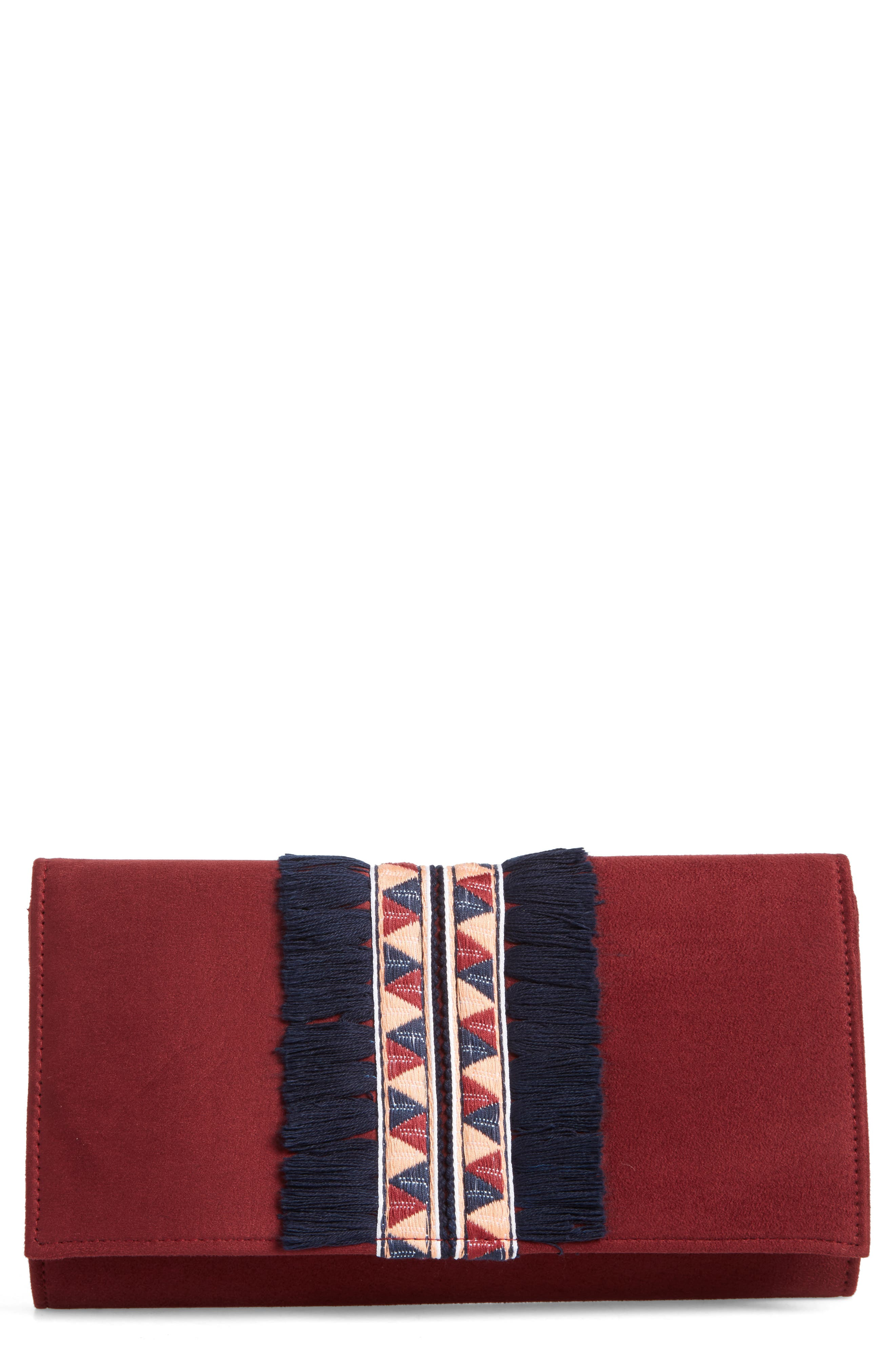 Rada Embroidered Clutch,                             Main thumbnail 2, color,