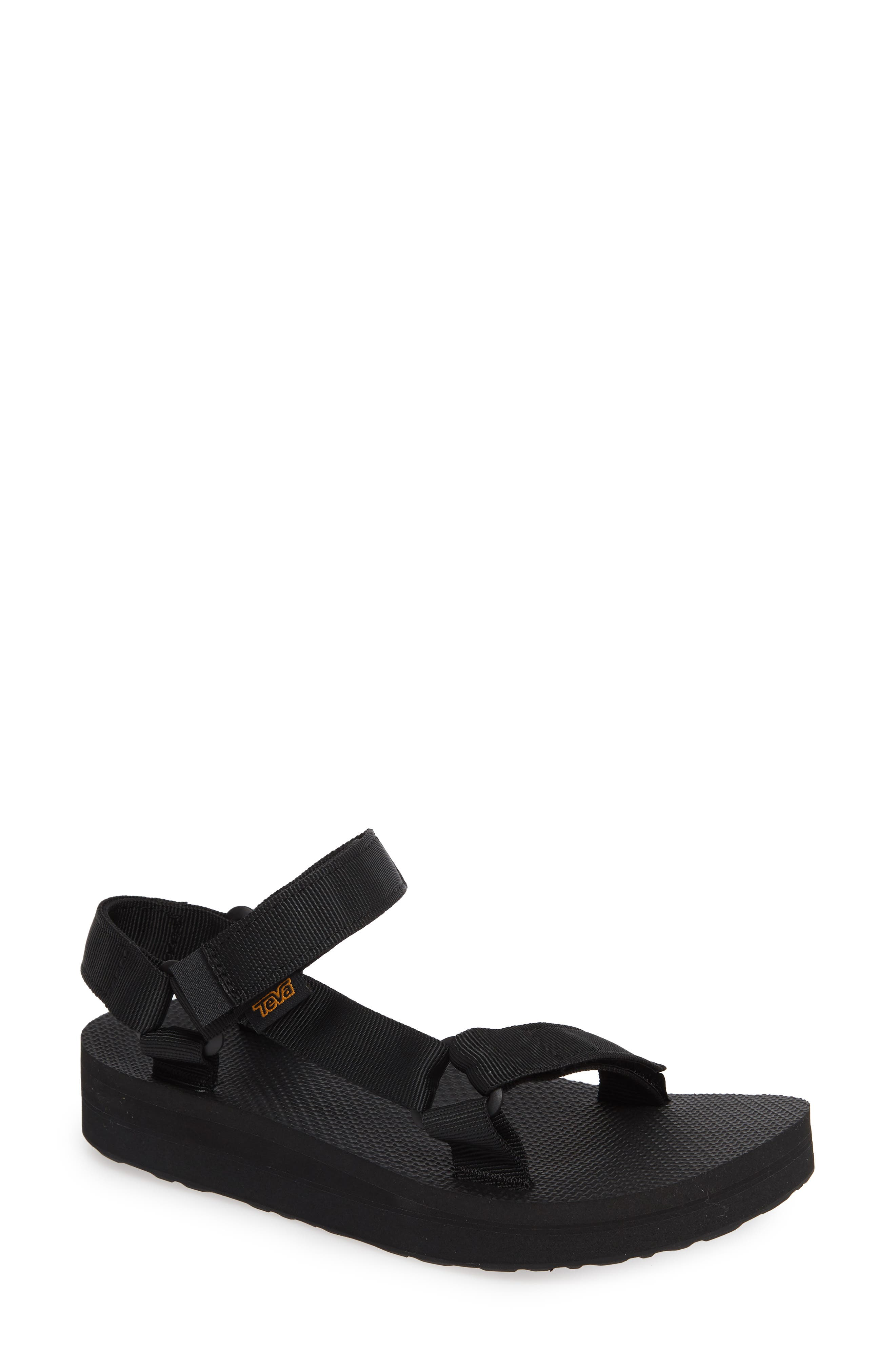 Midform Universal Geometric Sandal,                             Main thumbnail 1, color,                             BLACK FABRIC
