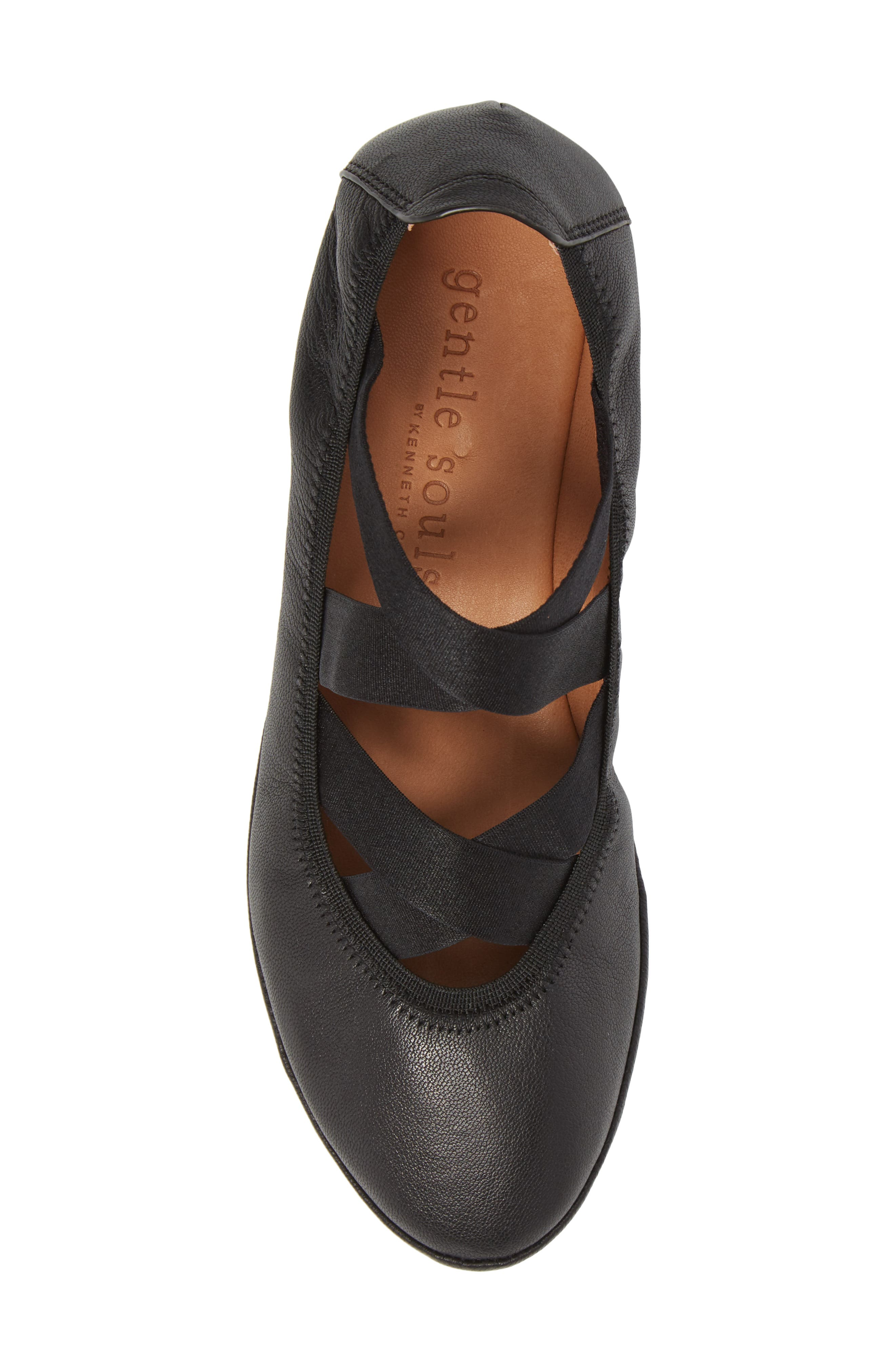 by Kenneth Cole Natalie Ballet Wedge,                             Alternate thumbnail 5, color,                             BLACK LEATHER