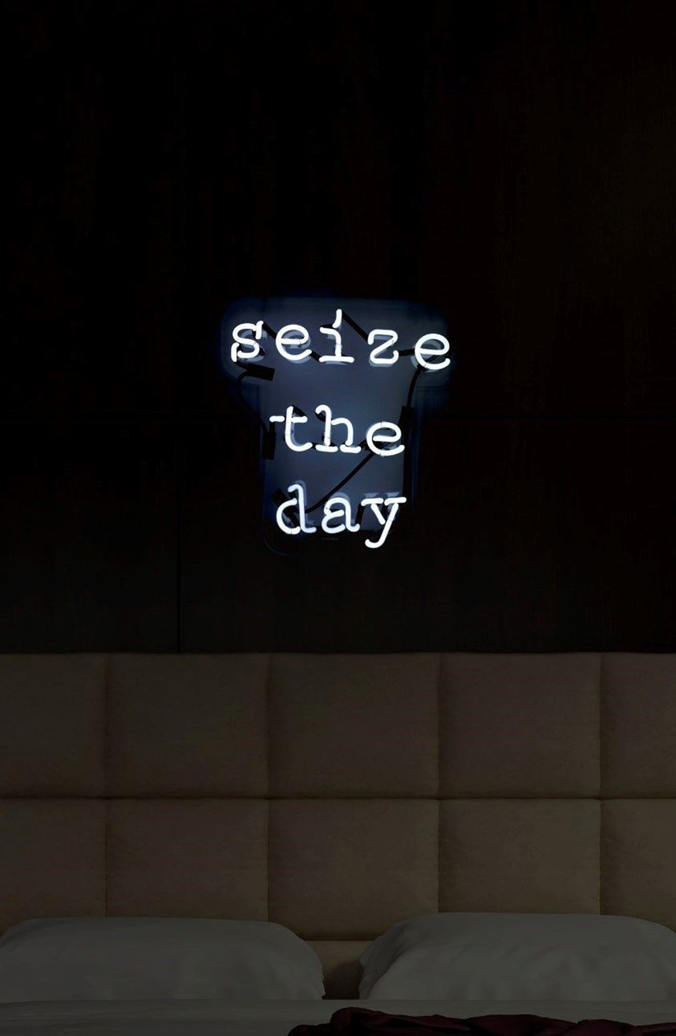 Seize The Day Neon Sign,                             Alternate thumbnail 4, color,                             100