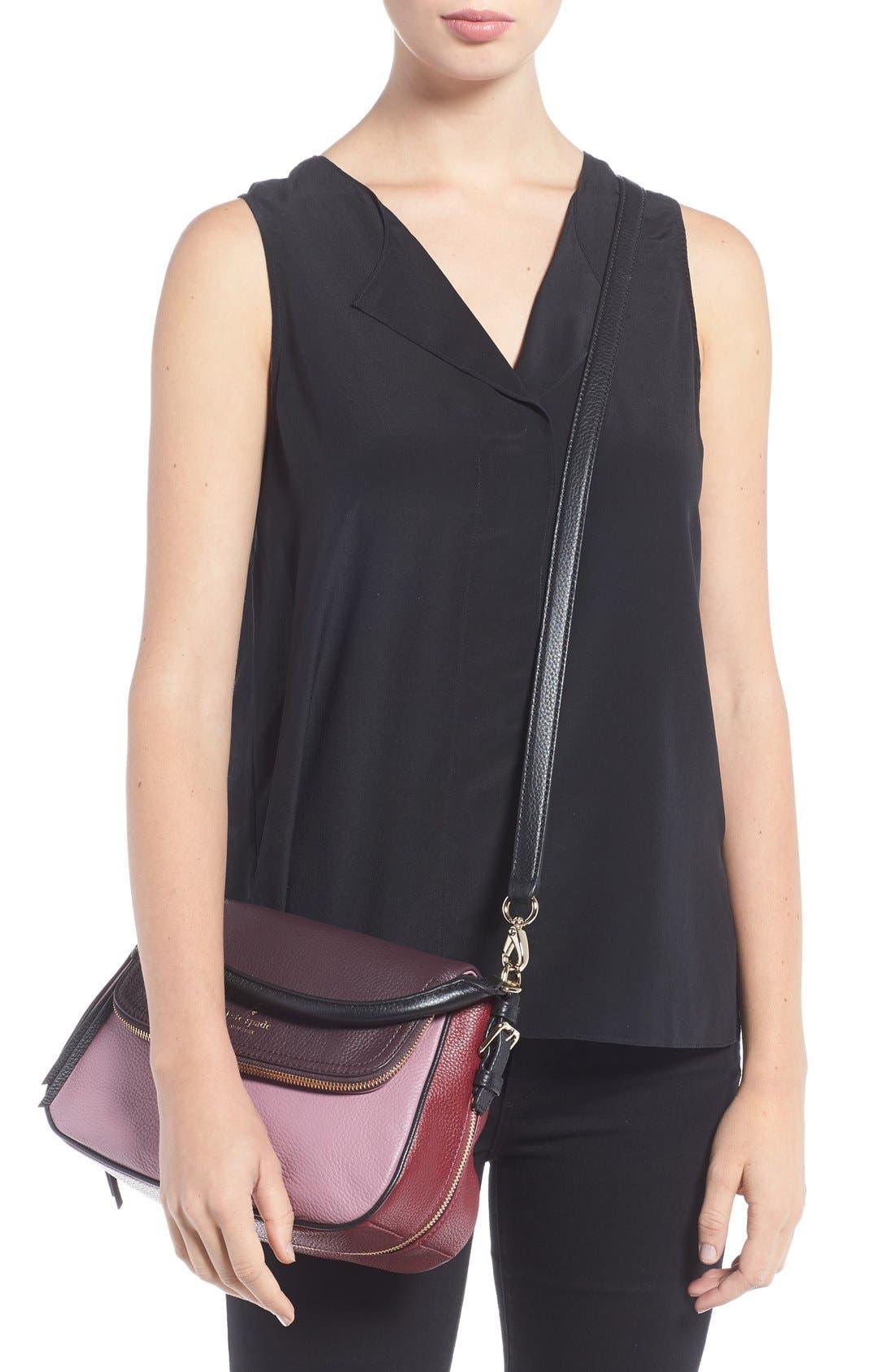 cobble hill - deva leather crossbody bag,                             Alternate thumbnail 16, color,