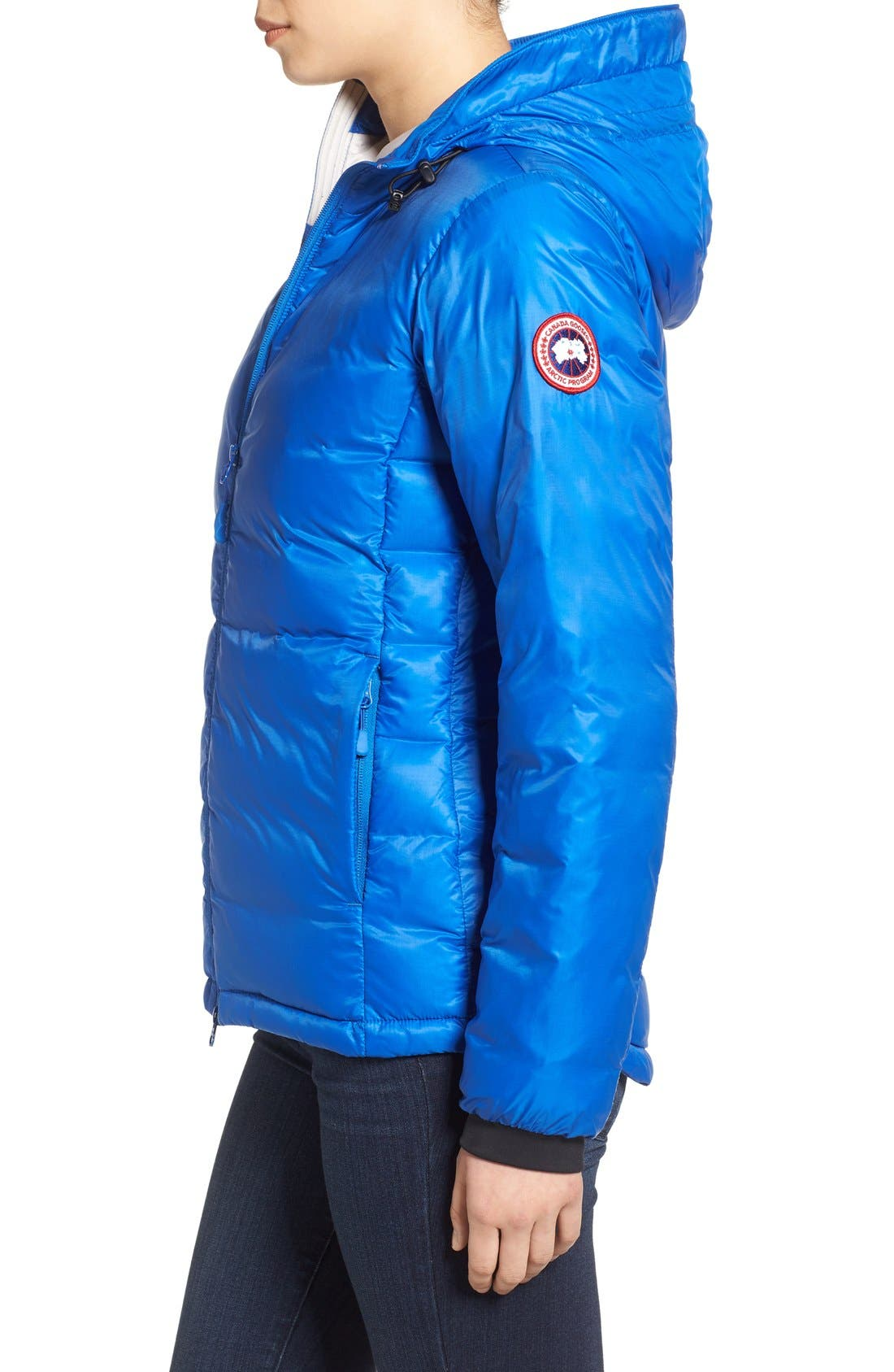 'PBI Camp' Packable Hooded Down Jacket,                             Alternate thumbnail 6, color,                             ROYAL PBI BLUE